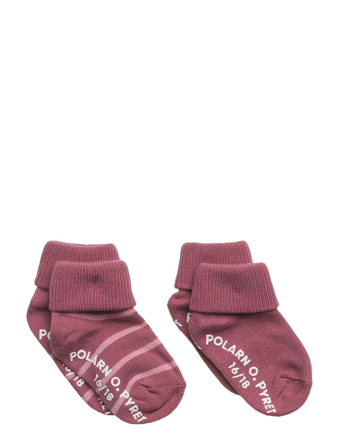 Polarn O. Pyret Sock 2-Pack Striped Turnup