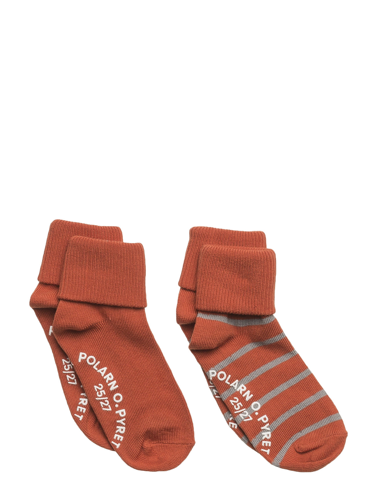 Polarn O. Pyret Sock 2-Pack Striped Turnup PreSchool