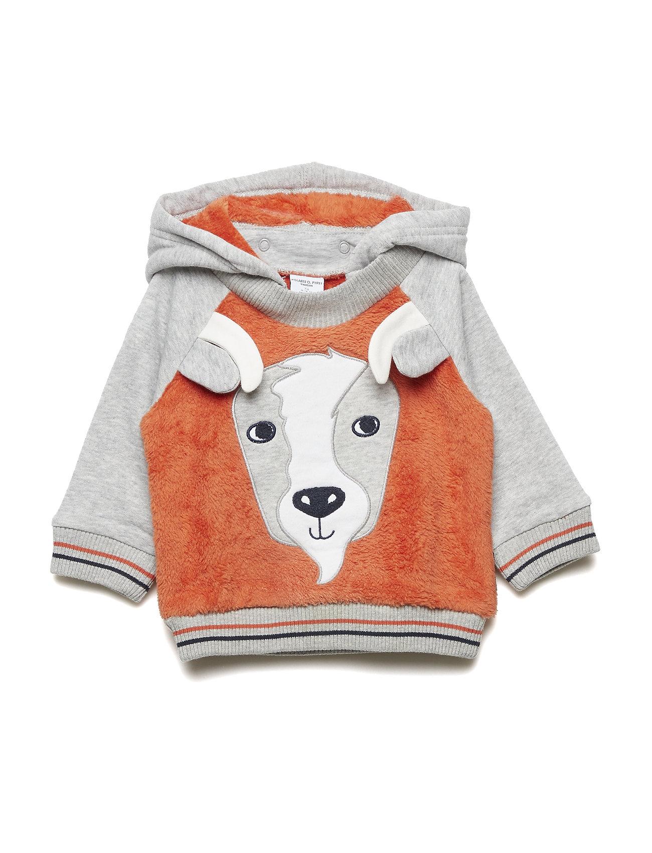 Polarn O. Pyret Sweatshirt Hood Baby - BURNT OCHRE