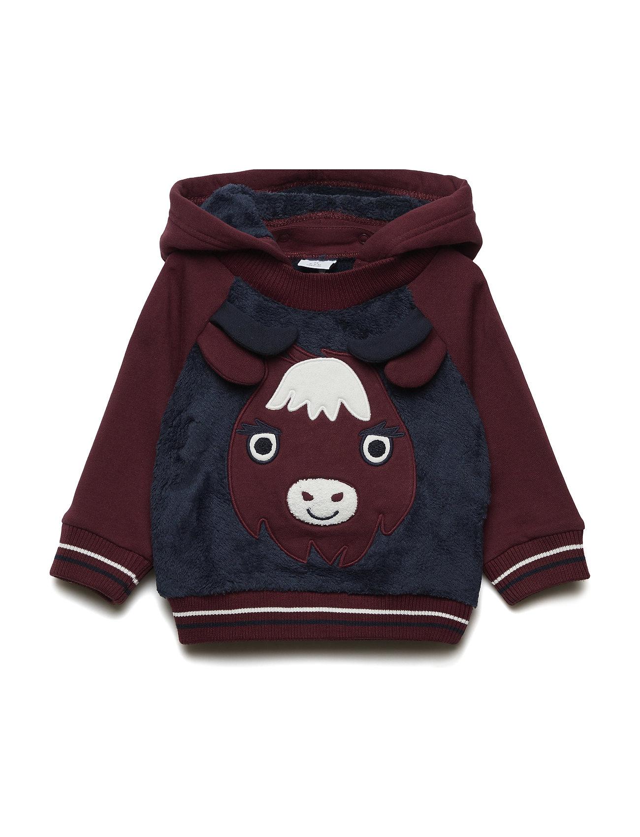 Polarn O. Pyret Sweatshirt Hood Baby - MOOD INDIGO