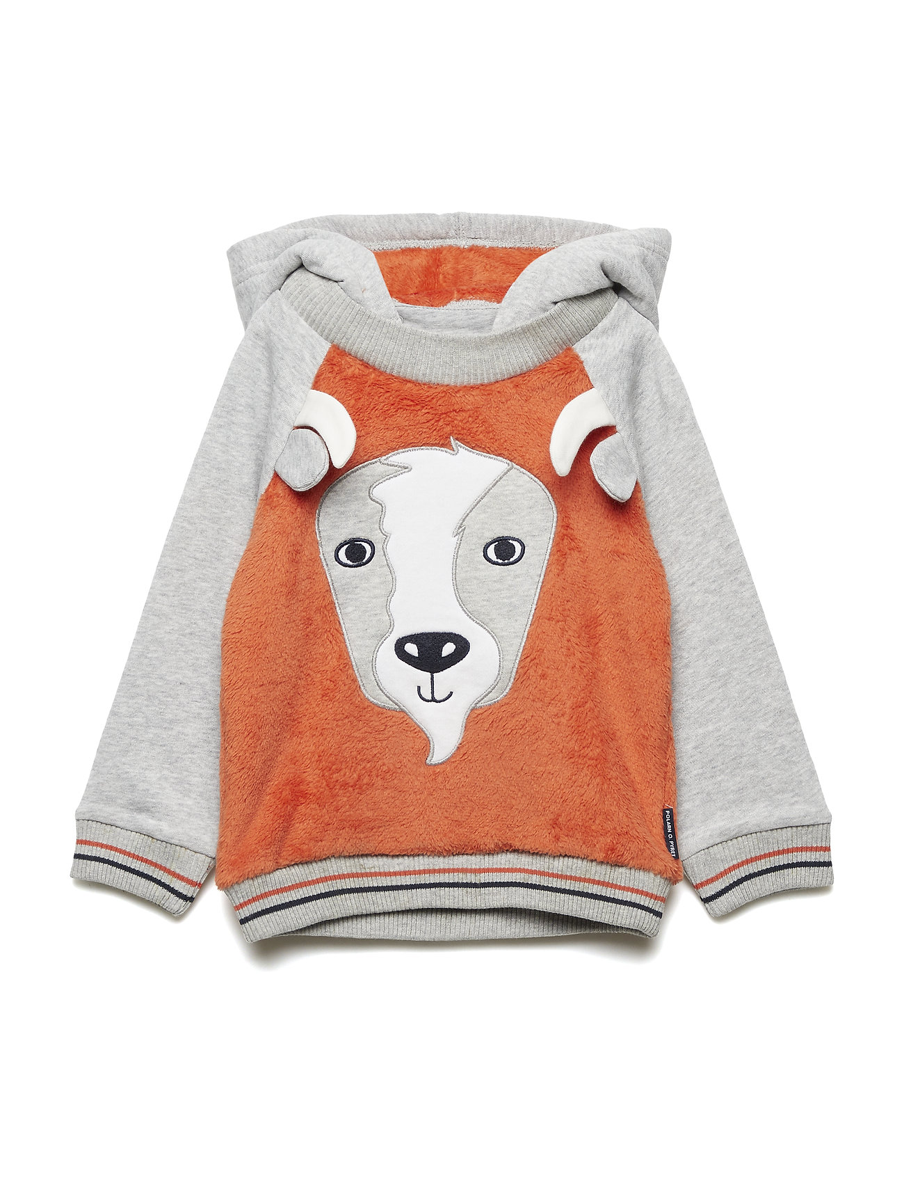 Polarn O. Pyret Sweatshirt Hood Preschool - BURNT OCHRE