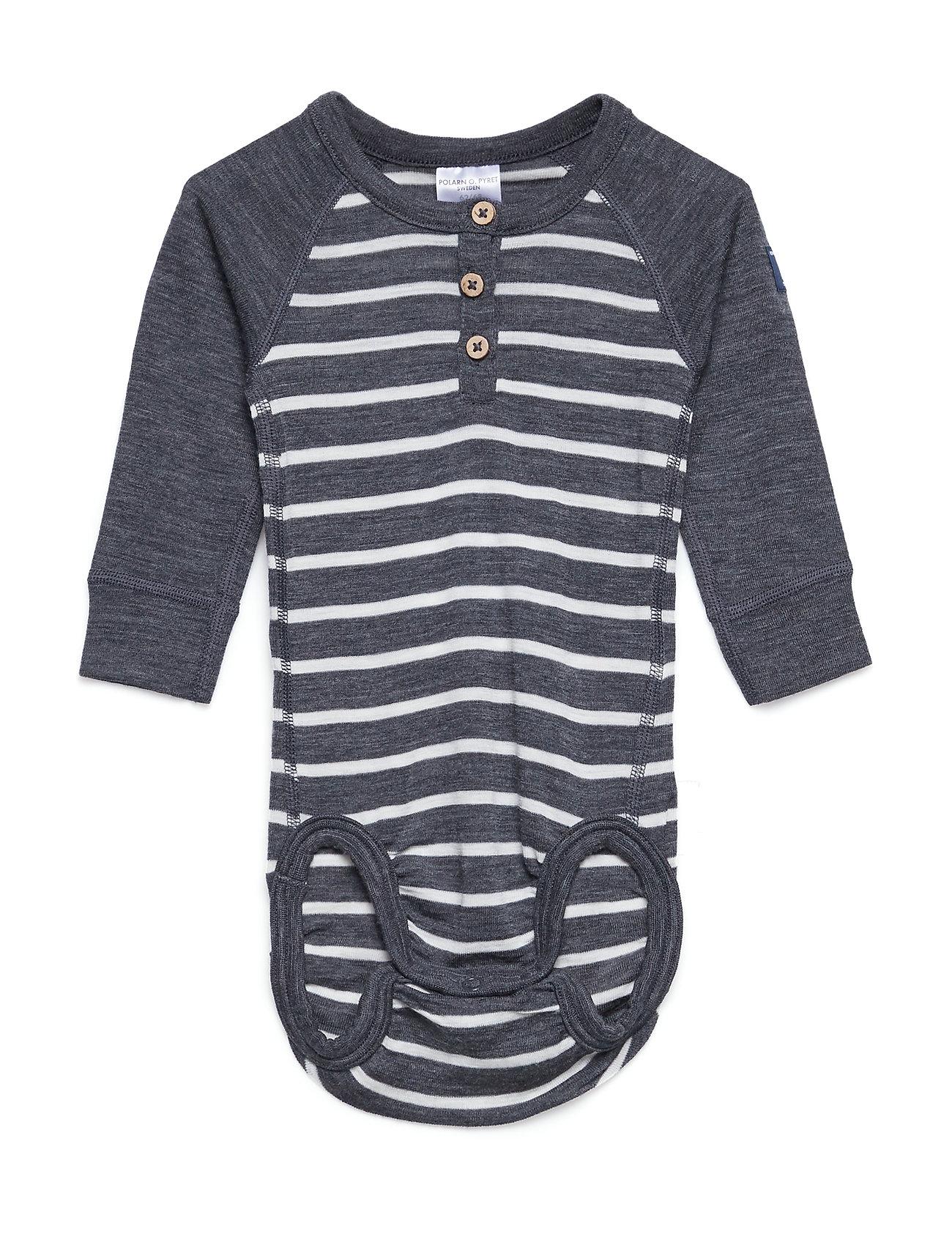 Polarn O. Pyret Body Wool Striped Newborn