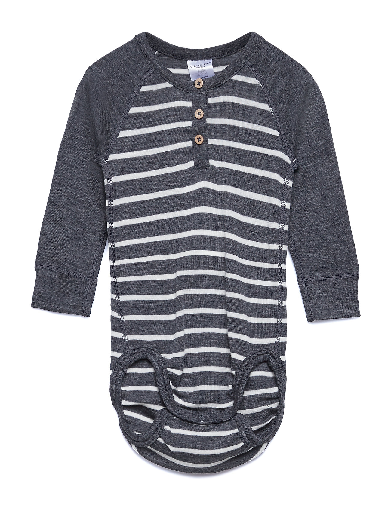 Polarn O. Pyret Body Wool Striped Baby