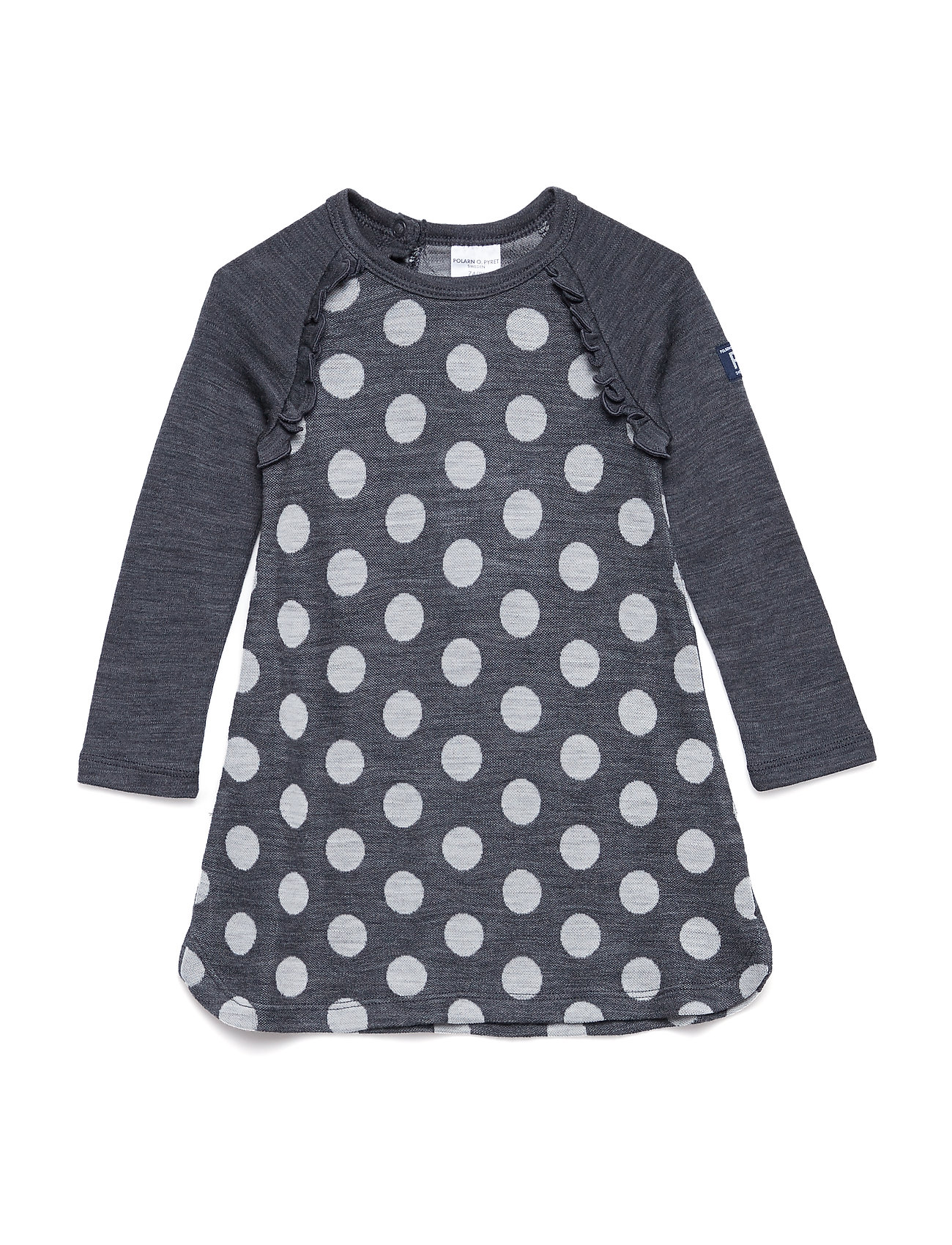Polarn O. Pyret Dress Long Sleeve Wool Solid Baby