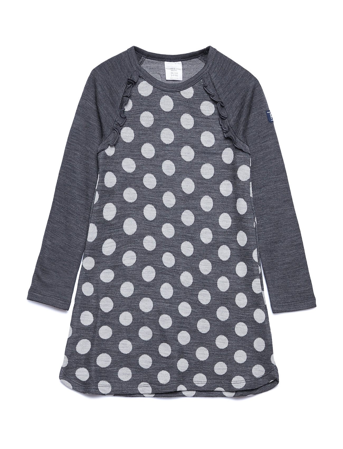 Polarn O. Pyret Dress Long Sleeve Wool Solid PreSchool