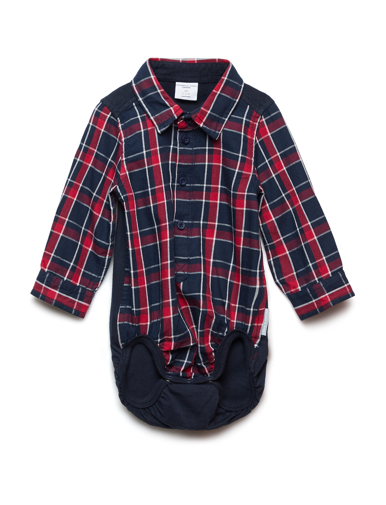 Billede af Body Long Sleeve W. Collar Checked Newborn
