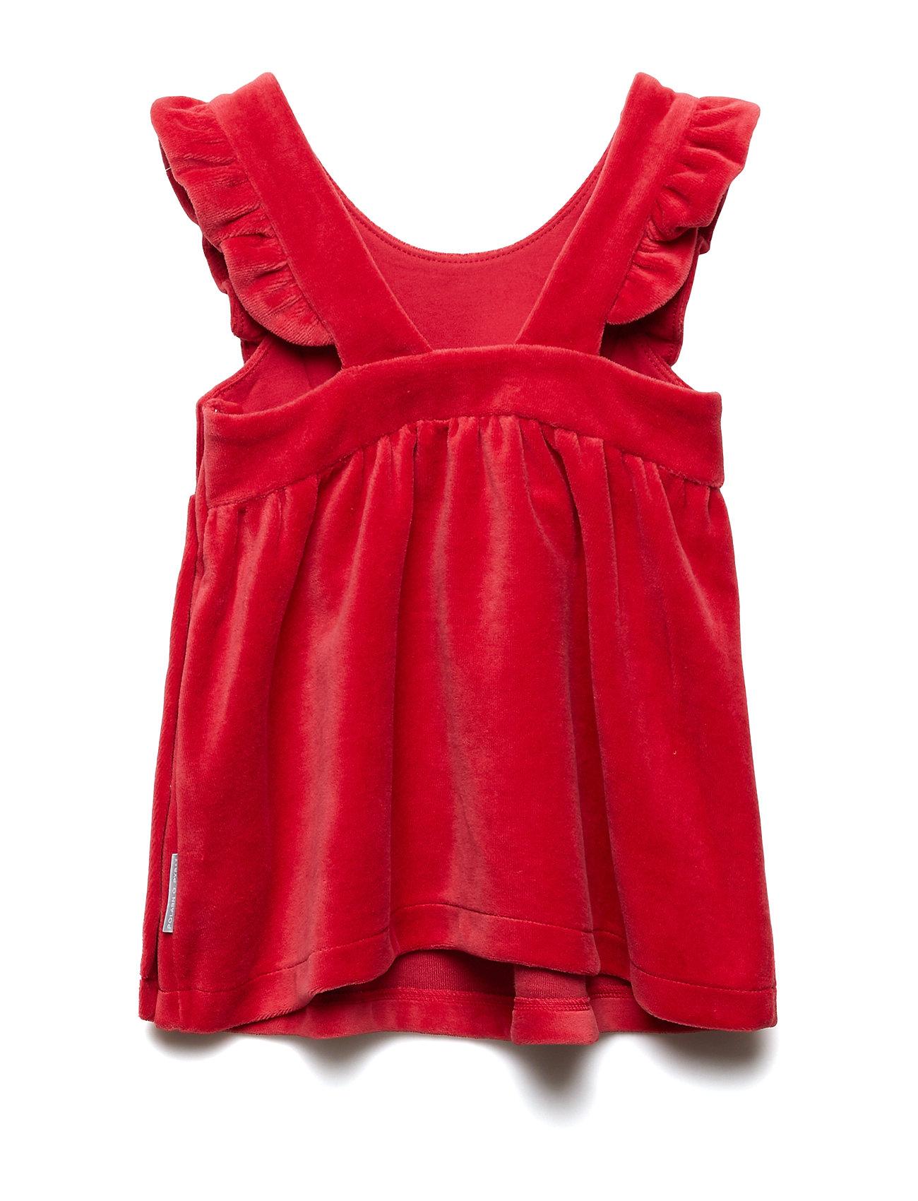 Dress SS Velour Solid Newborn Kjole Rød POLARN O. PYRET