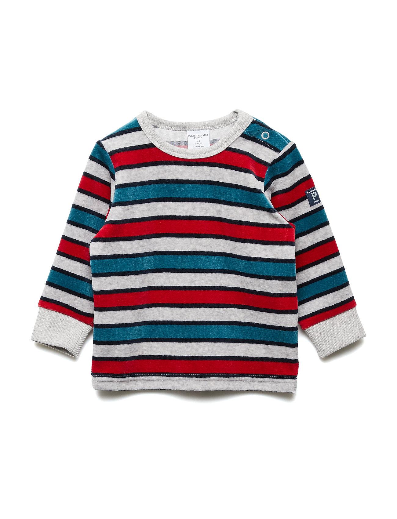 Polarn O. Pyret Velour Top Long Sleeve Striped Baby