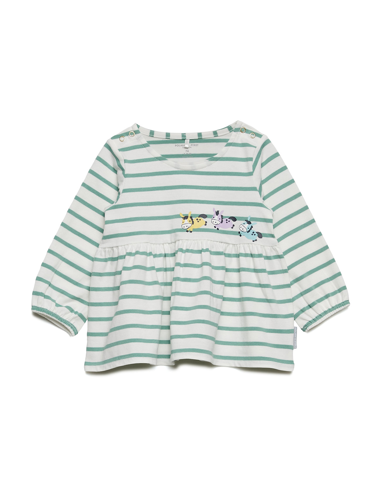 Polarn O. Pyret Top Long Sleeve Embroidery Baby - SNOW WHITE
