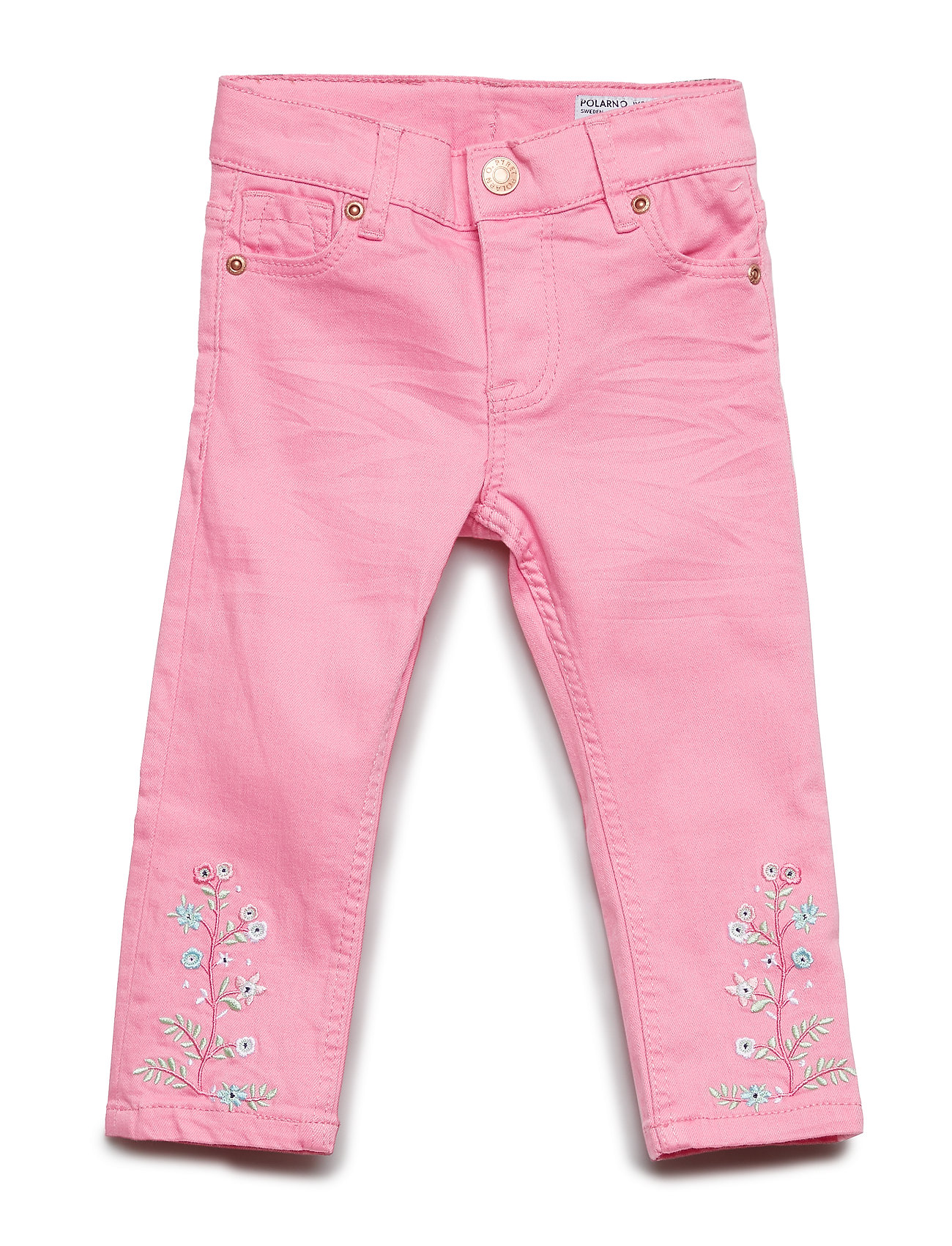 Polarn O. Pyret Trousers Woven Embroidery Preschool - SACHET PINK