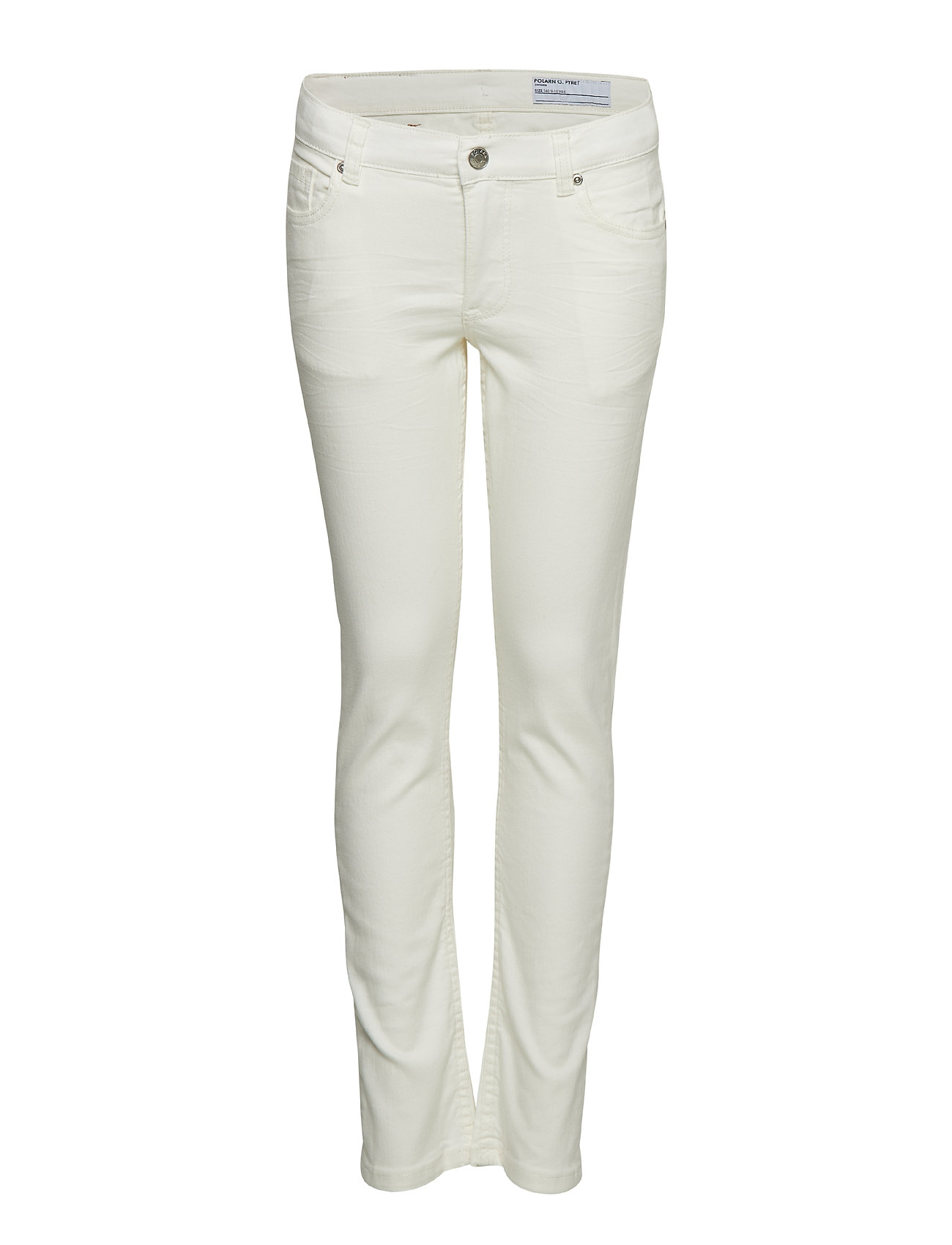 Polarn O. Pyret Trousers Solid School - SNOW WHITE