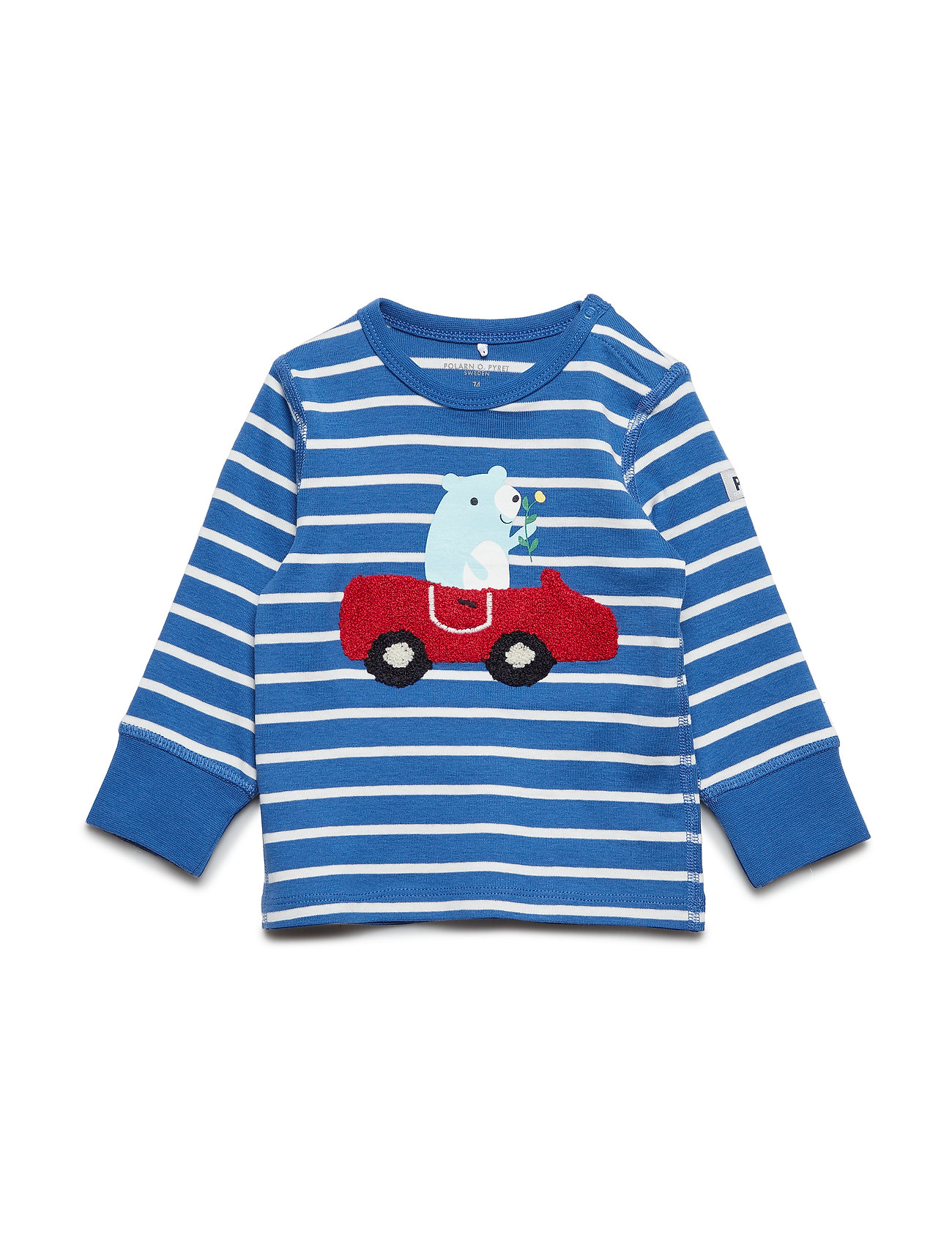 Polarn O. Pyret T-shirt Long Sleeve PO.P Stripe Baby - DELFT