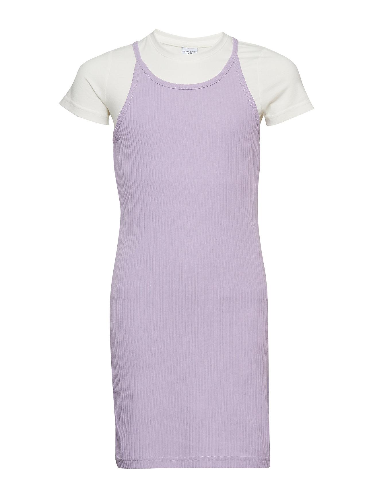 Polarn O. Pyret Dress S/S School - LAVENDULA