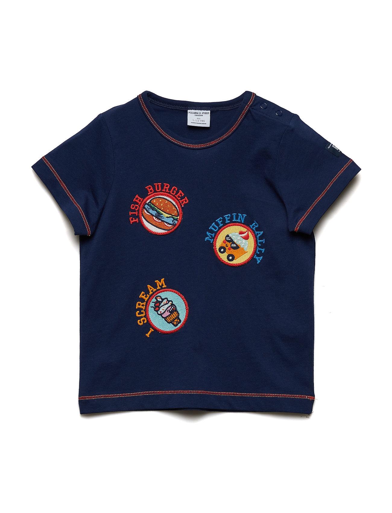 Polarn O. Pyret T-shirt S/S Preschool - MEDIEVAL BLUE