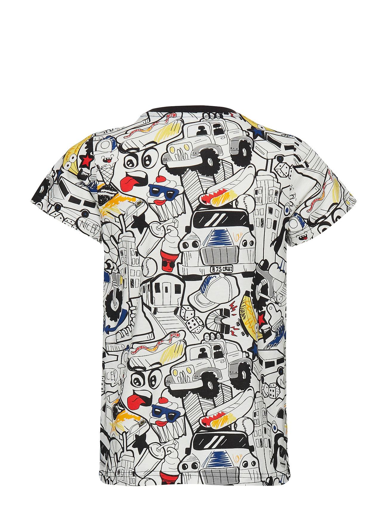 T Shirt SS School T shirt Multimønstret POLARN O. PYRET