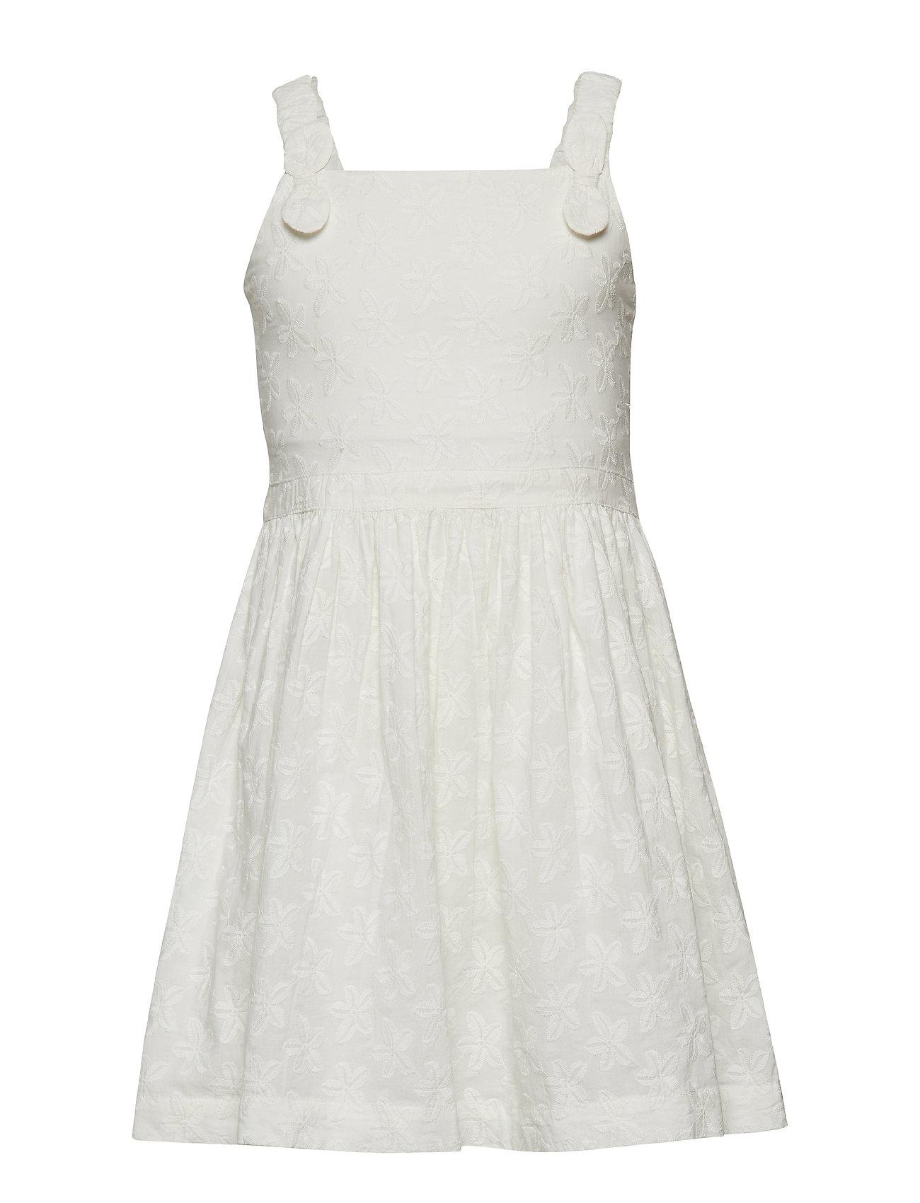 Polarn O. Pyret Dress Embroidery School - SNOW WHITE