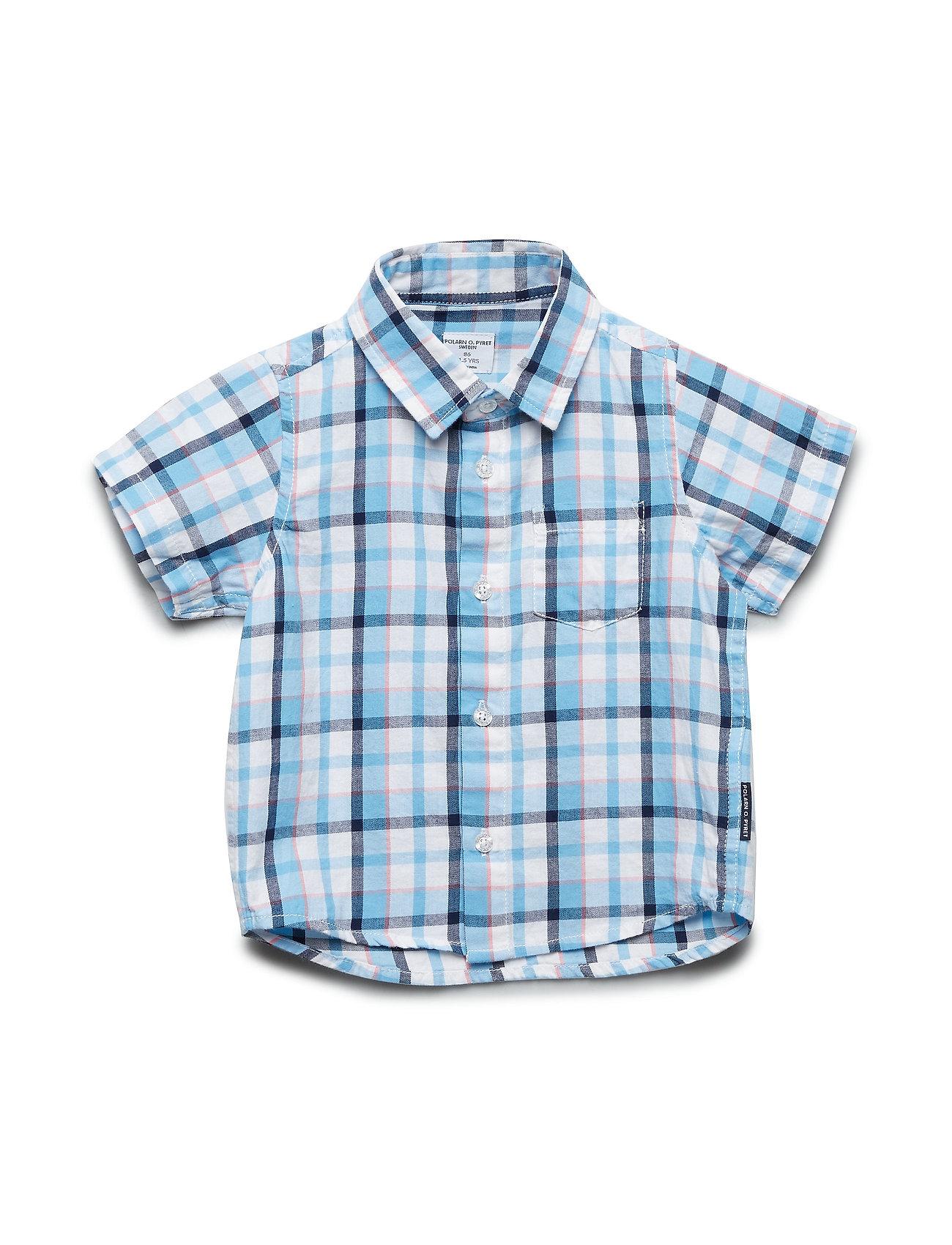 Polarn O. Pyret Shirt S/S Check Preschool