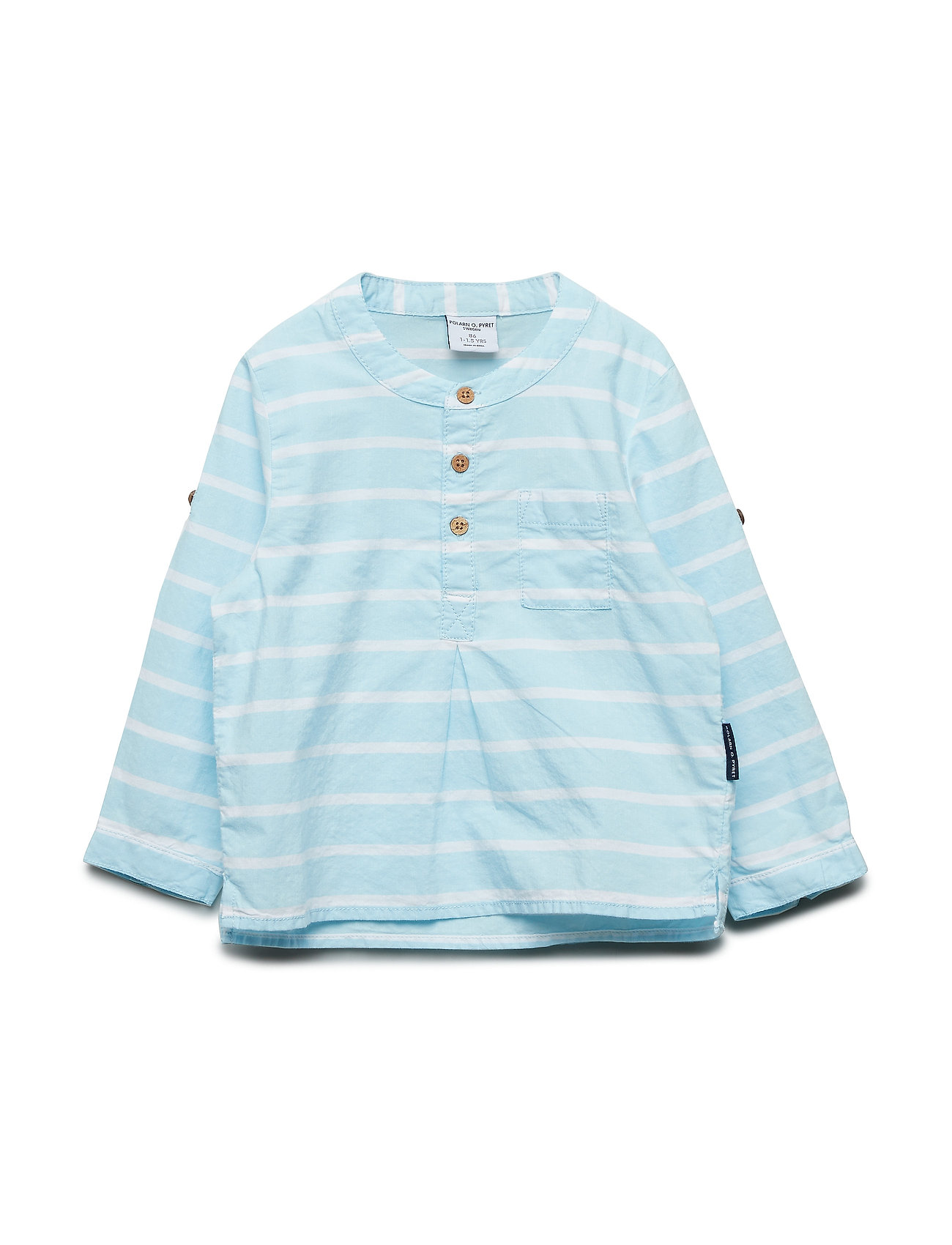 Polarn O. Pyret Shirt L/S woven   Preschool - COOL BLUE