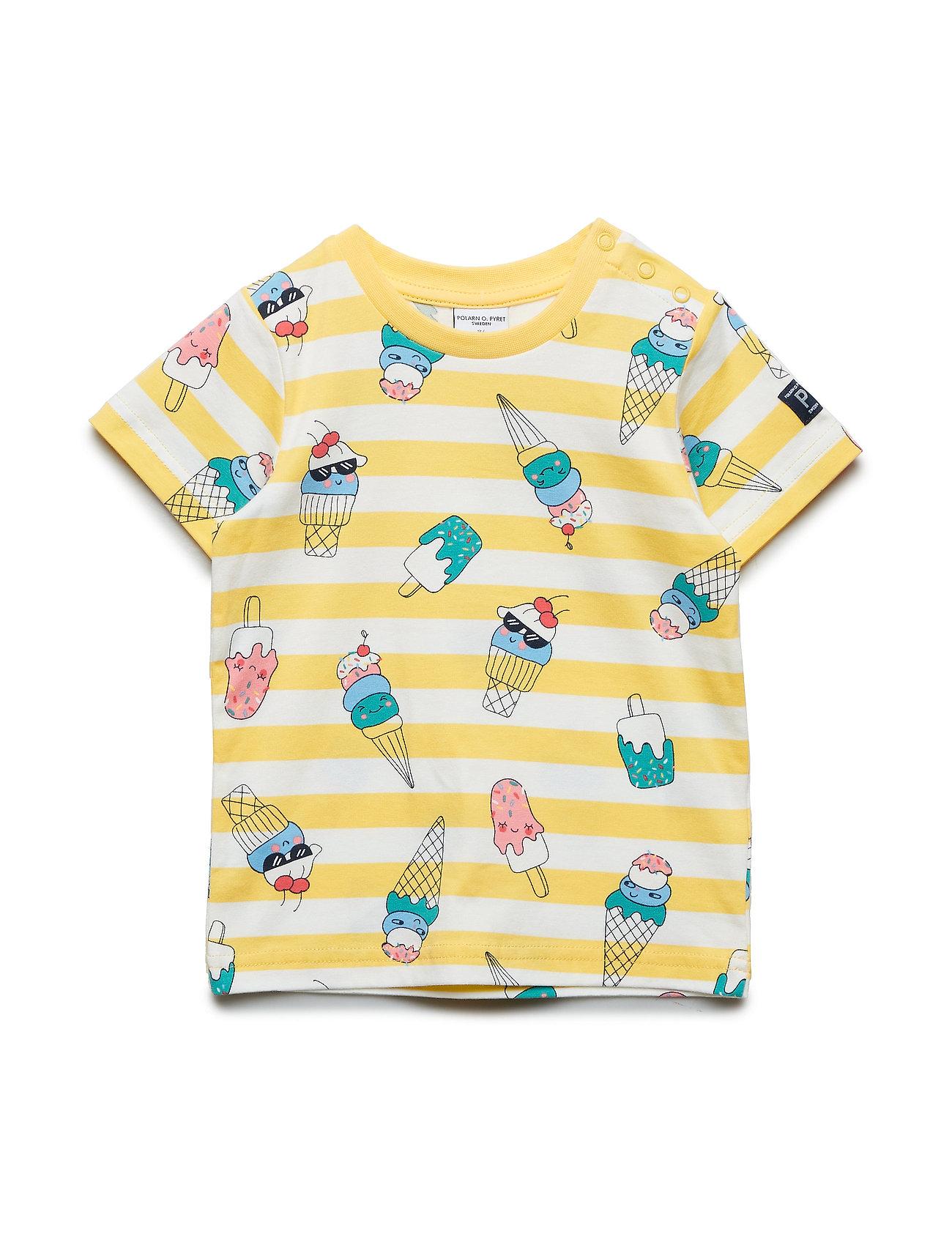 T Shirt SS Aop Preschool T shirt Gul POLARN O. PYRET