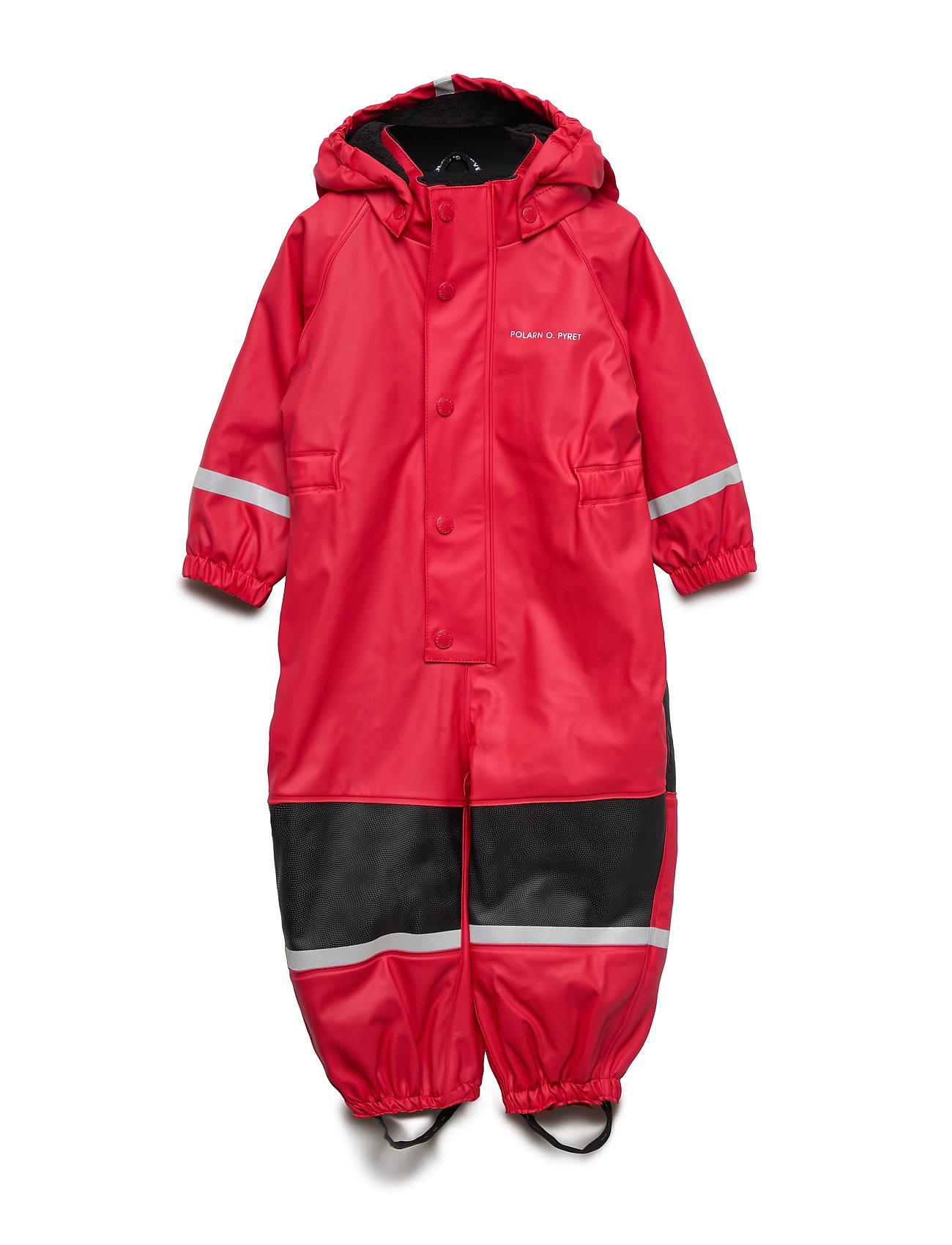 Polarn O. Pyret Rain Overall Preschool - RIBBON RED