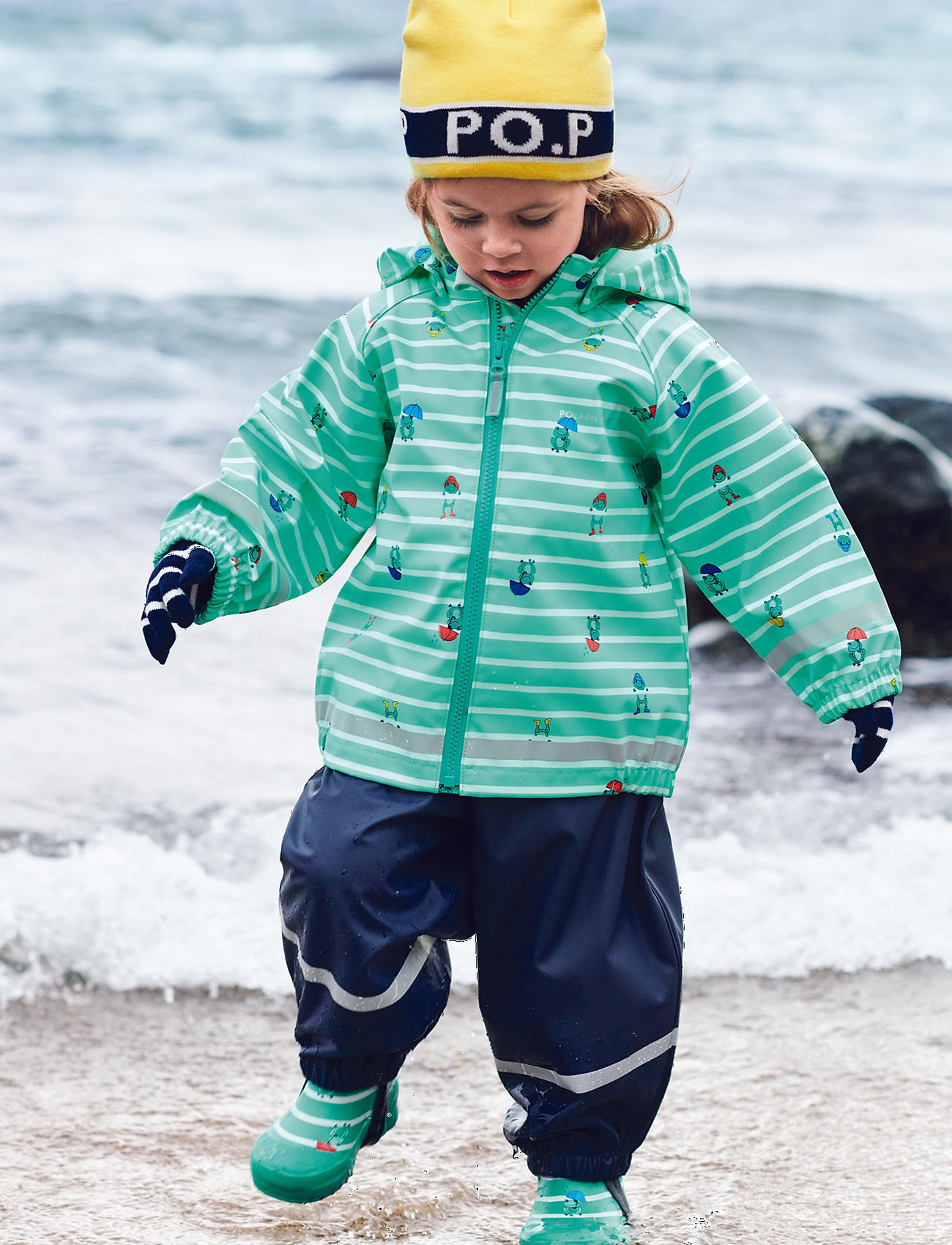 Polarn O. Pyret - Rain Pants Preschool - sets & suits - dark sapphire - 0