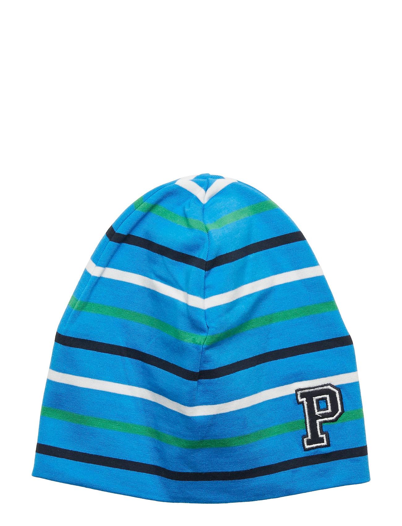 Polarn O. Pyret Cap Multi Stripe Baby - FRENCH BLUE