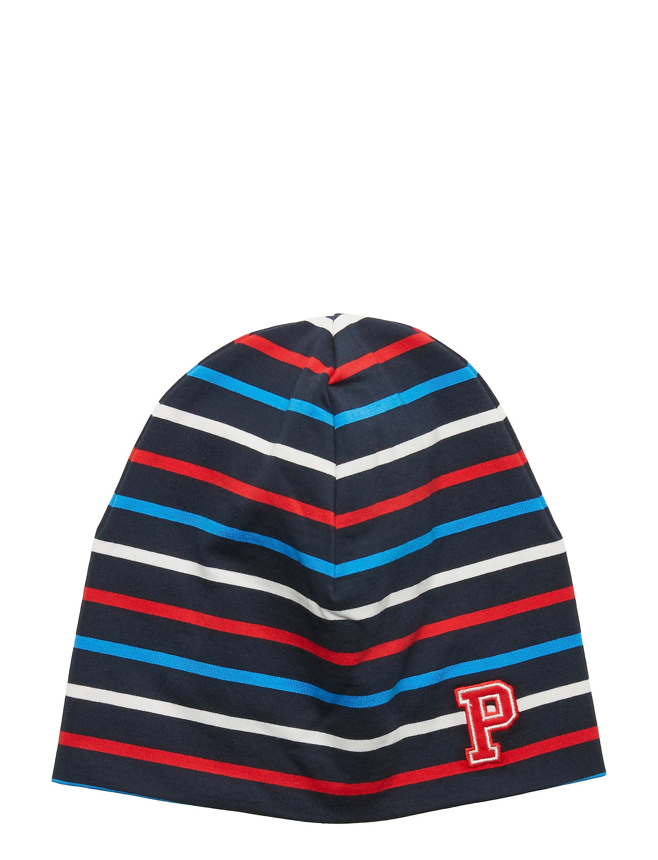 Polarn O. Pyret Cap Multi Stripe Preschool - DARK SAPPHIRE