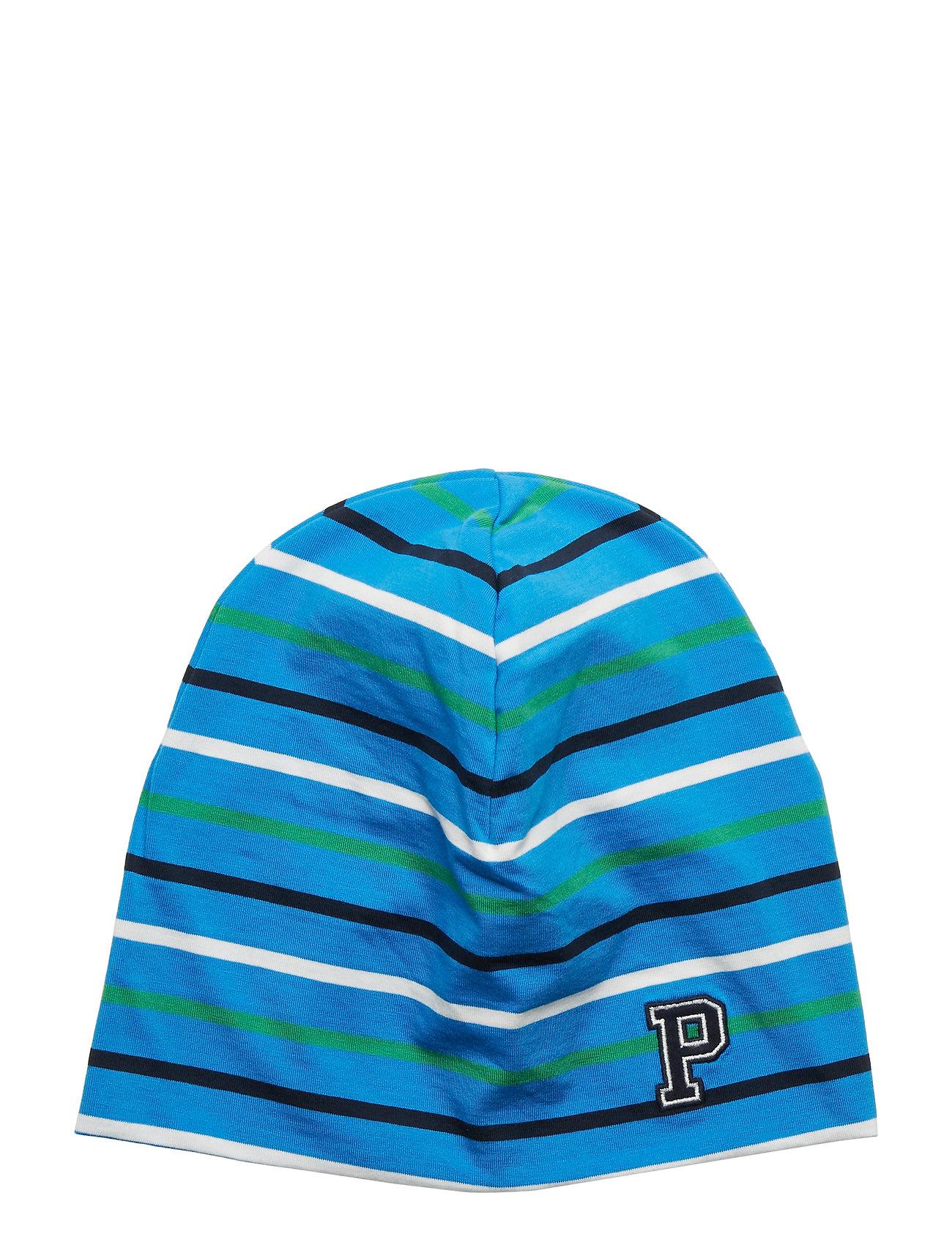 Polarn O. Pyret Cap Multi Stripe School - FRENCH BLUE