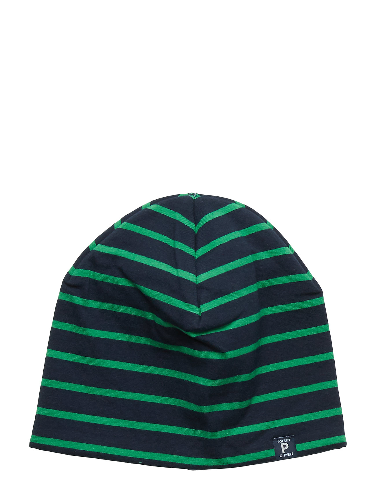 Polarn O. Pyret Cap PO.P Striped PreSchool - DARK SAPPHIRE