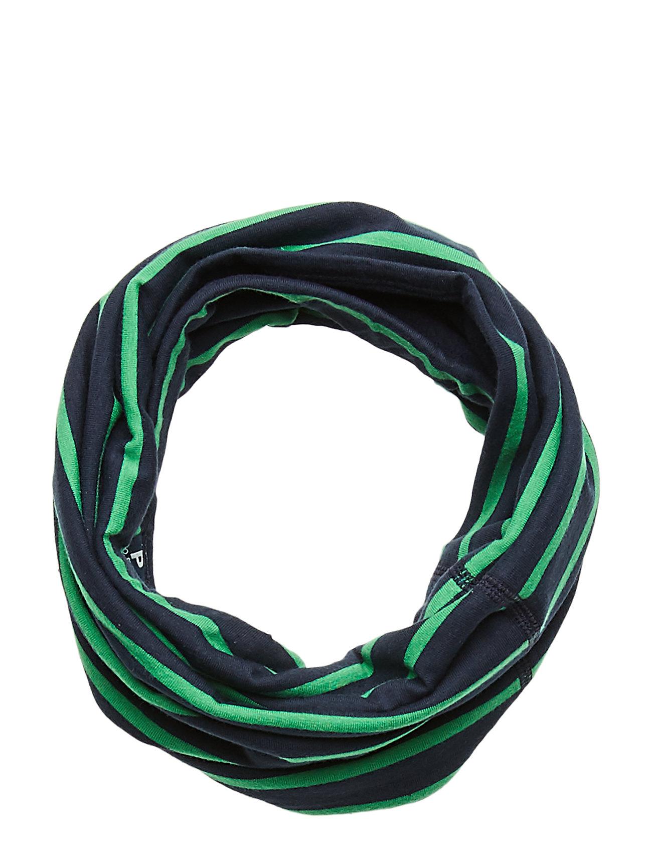 Polarn O. Pyret Collar Striped PreSchool - DARK SAPPHIRE