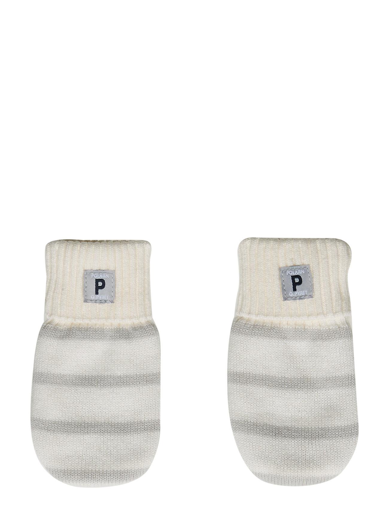 Polarn O. Pyret Mitten  w.Application Baby - SNOW WHITE