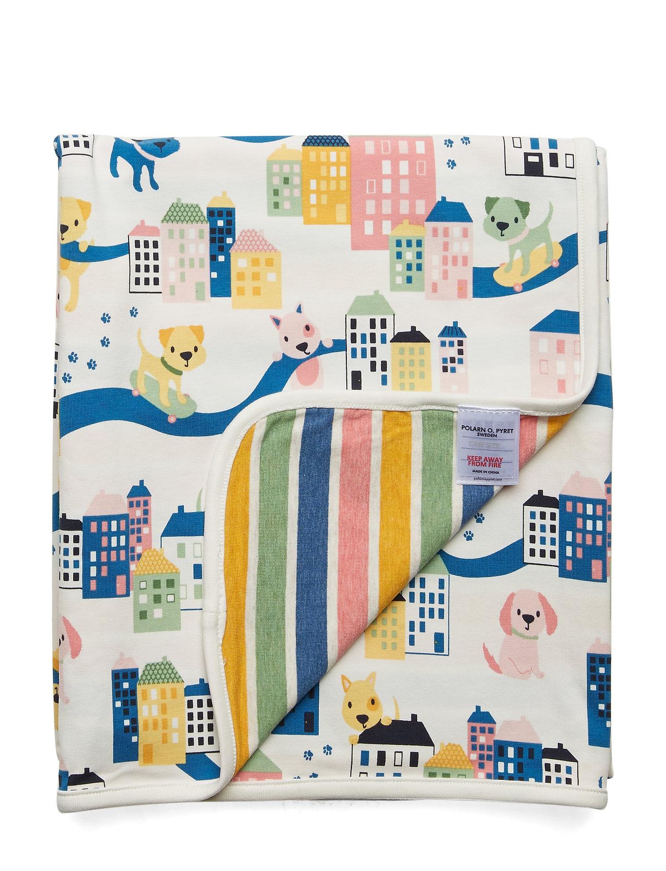 Polarn O. Pyret Blanket AOP Baby - EGRET