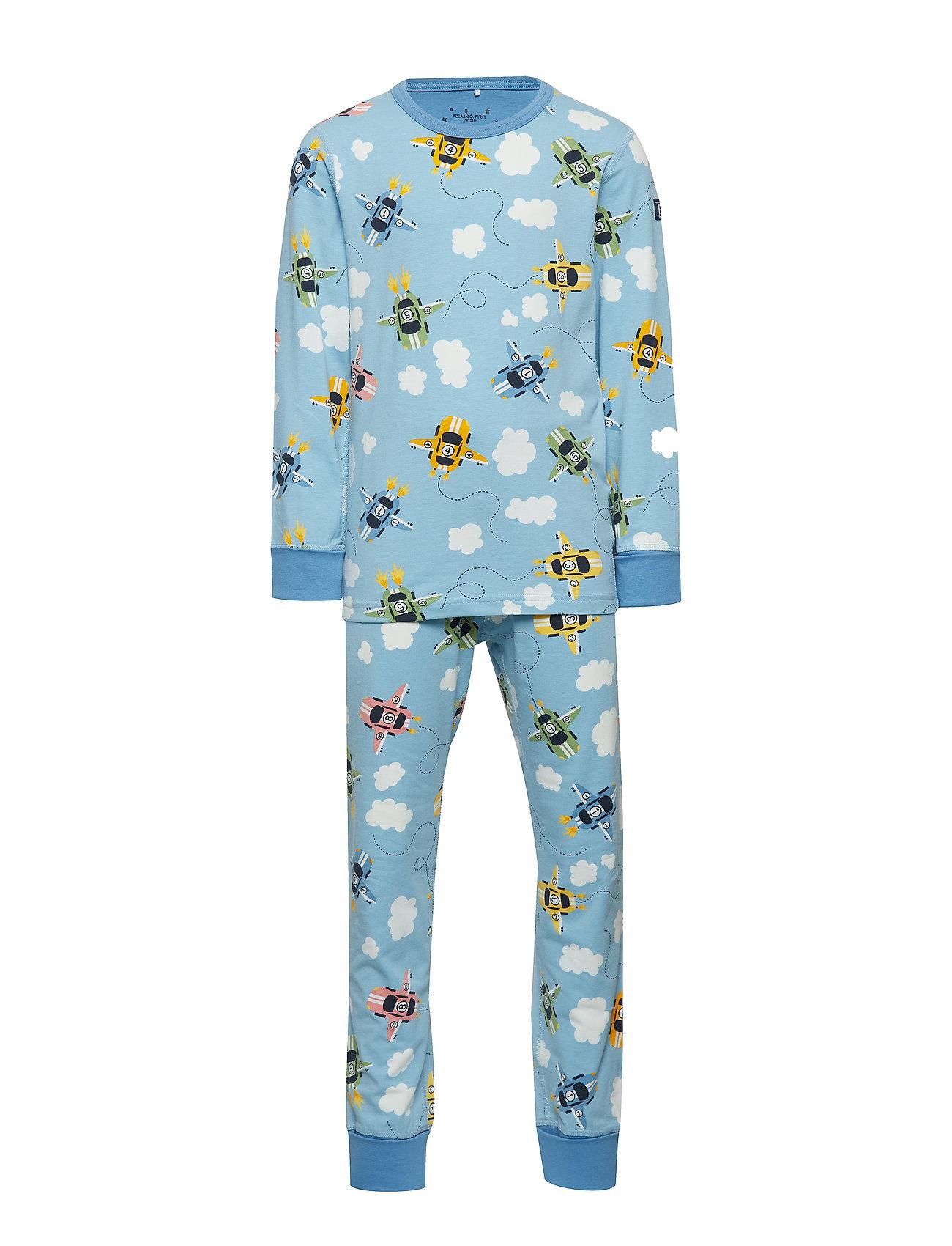 Polarn O. Pyret Pyjamas AOP School - DUSK BLUE