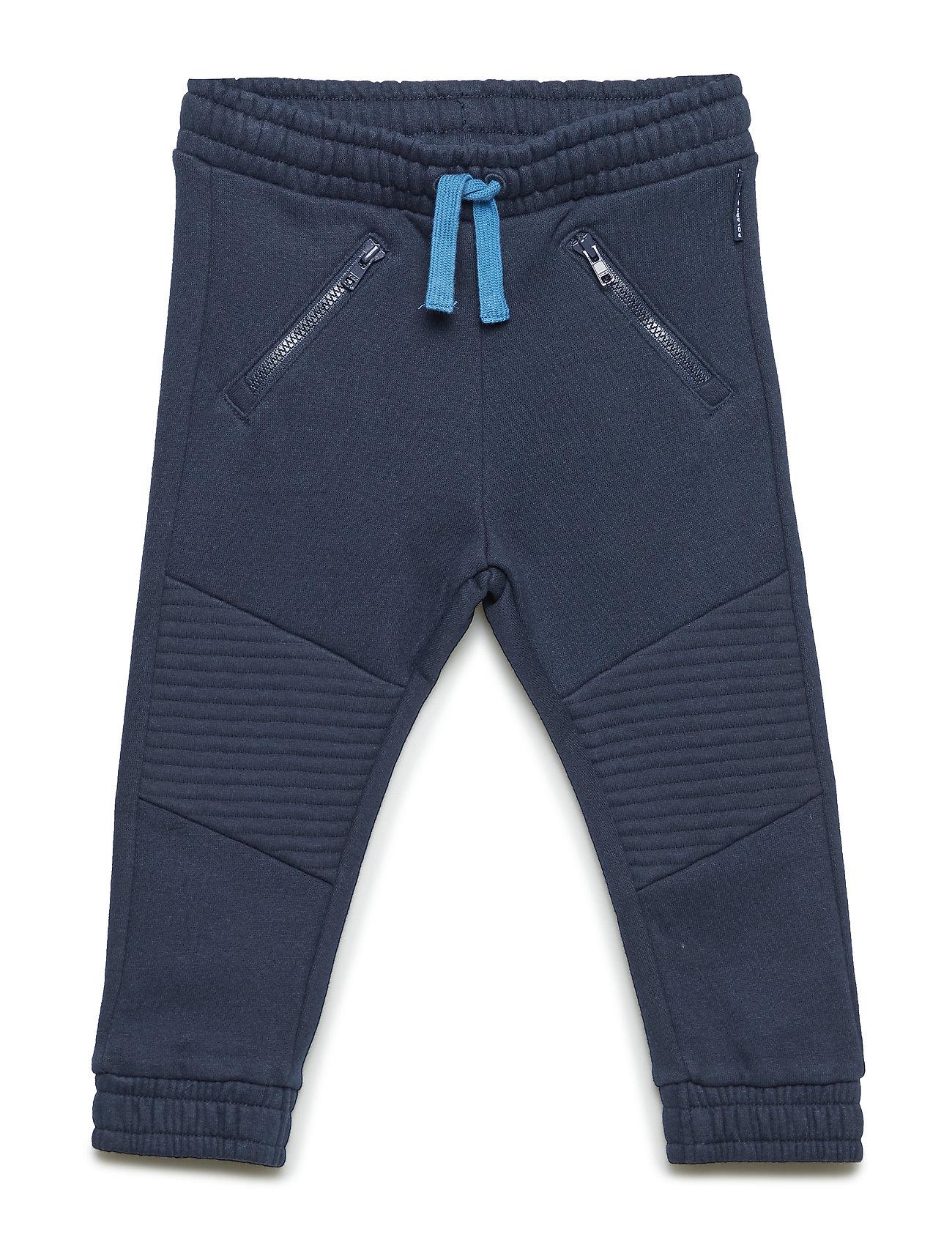 Image of Trouser Jersey Solid Preschool Sweatpants Hyggebukser Blå POLARN O. PYRET (3212175523)