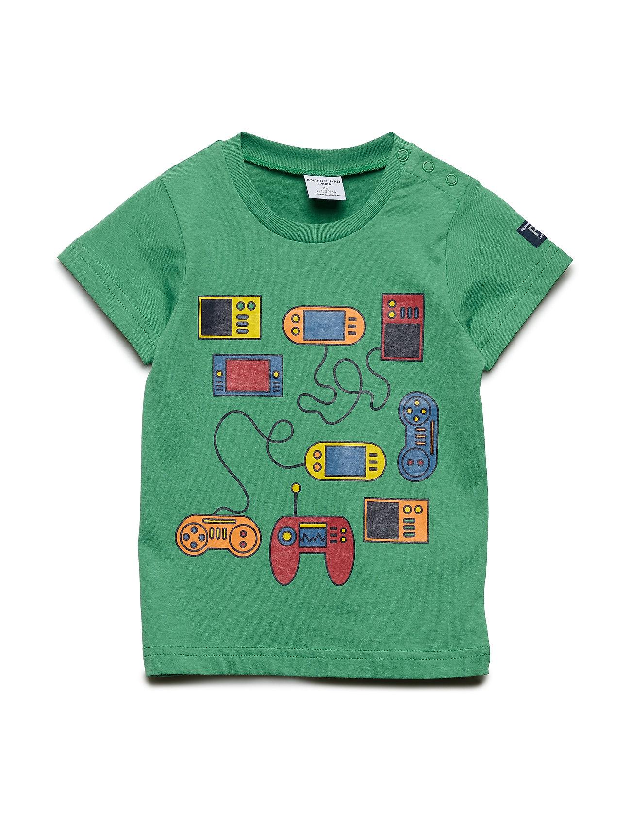 Polarn O. Pyret T-shirt Frontprint S/S Preschool - LEPRECHAUN