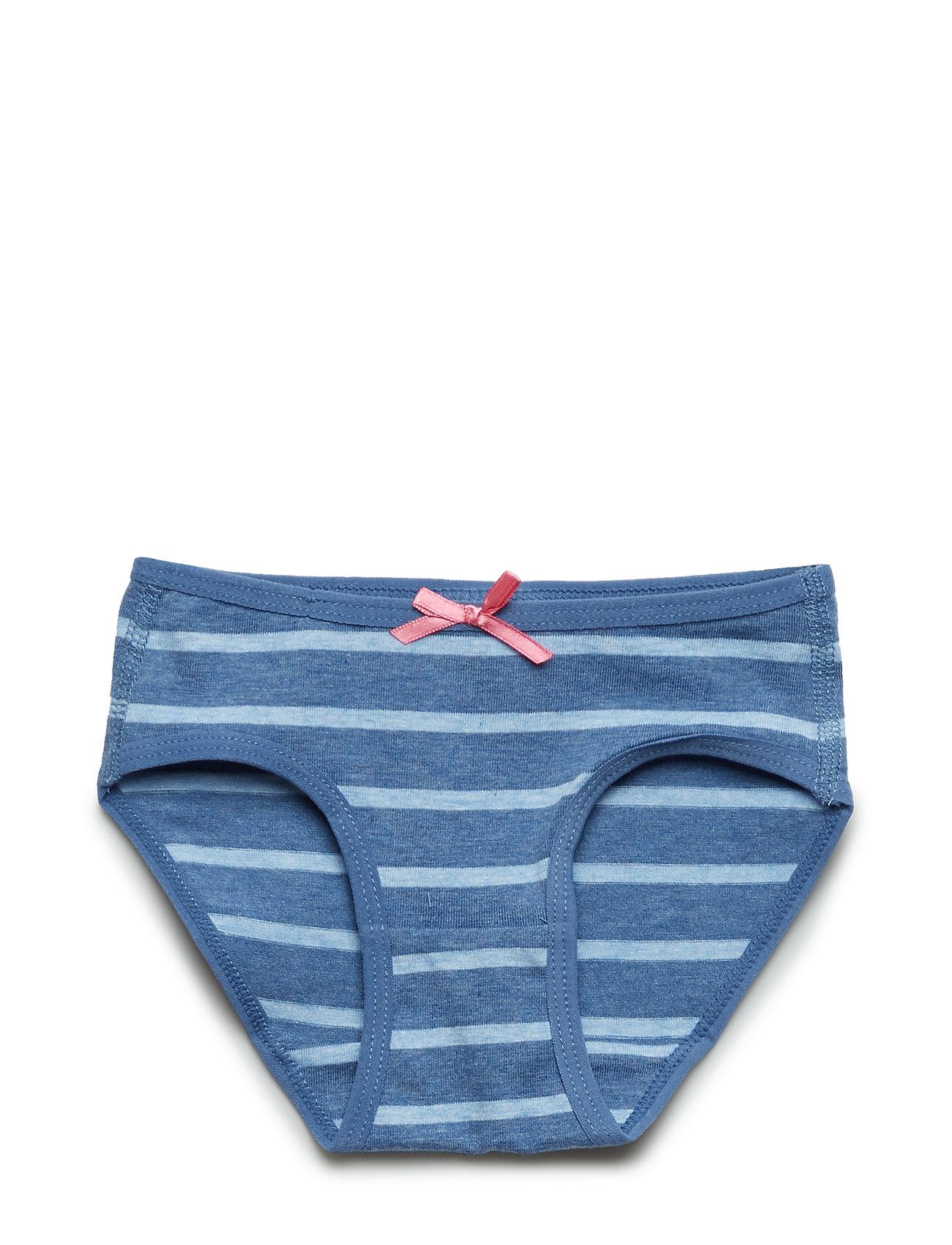 Polarn O. Pyret Girl Brief Striped Preschool - BLUEMELANGE