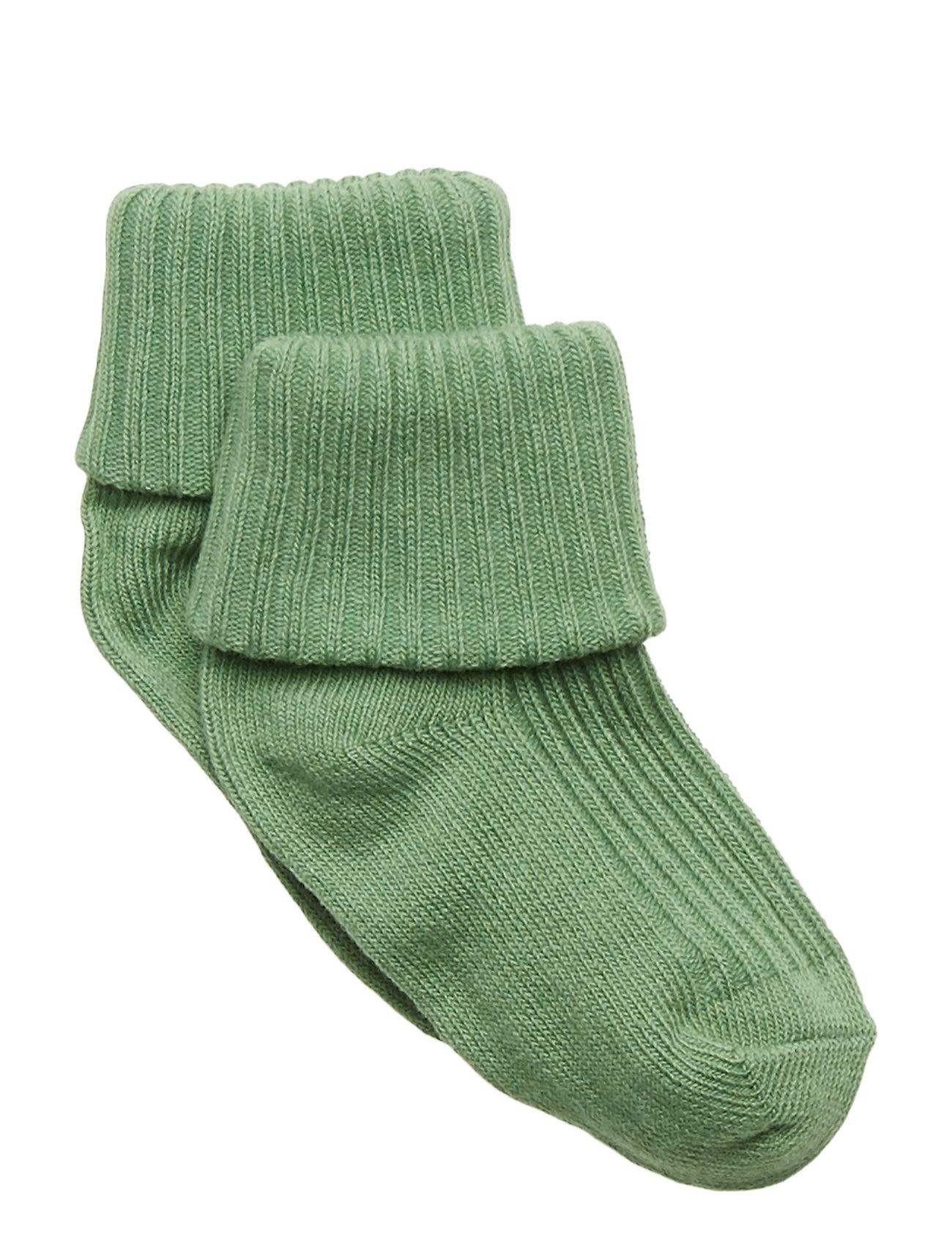 Polarn O. Pyret Sock Solid Baby - ASPEN GREEN