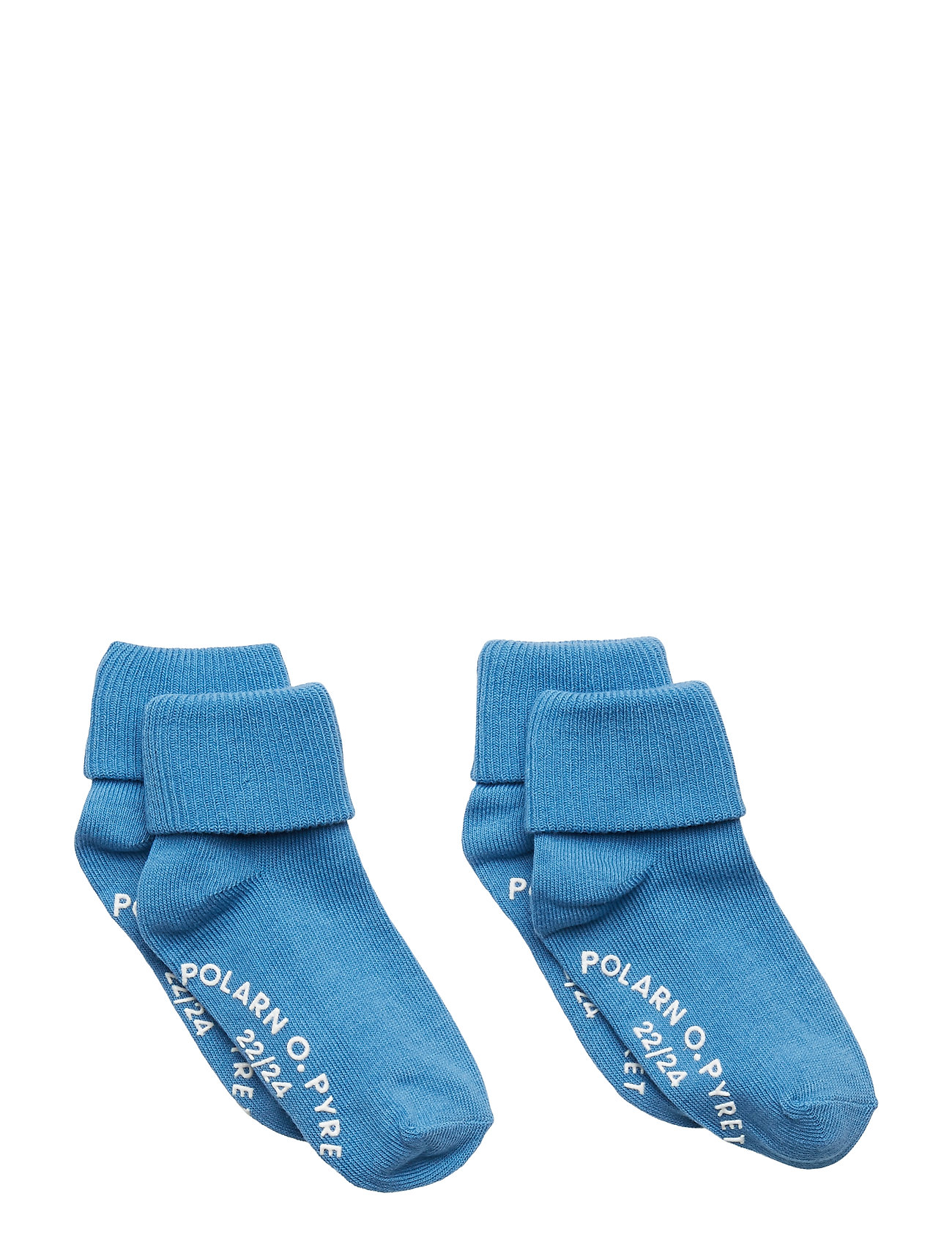 Polarn O. Pyret Socks 2-Pack Solid Preschool - PARISIAN BLUE