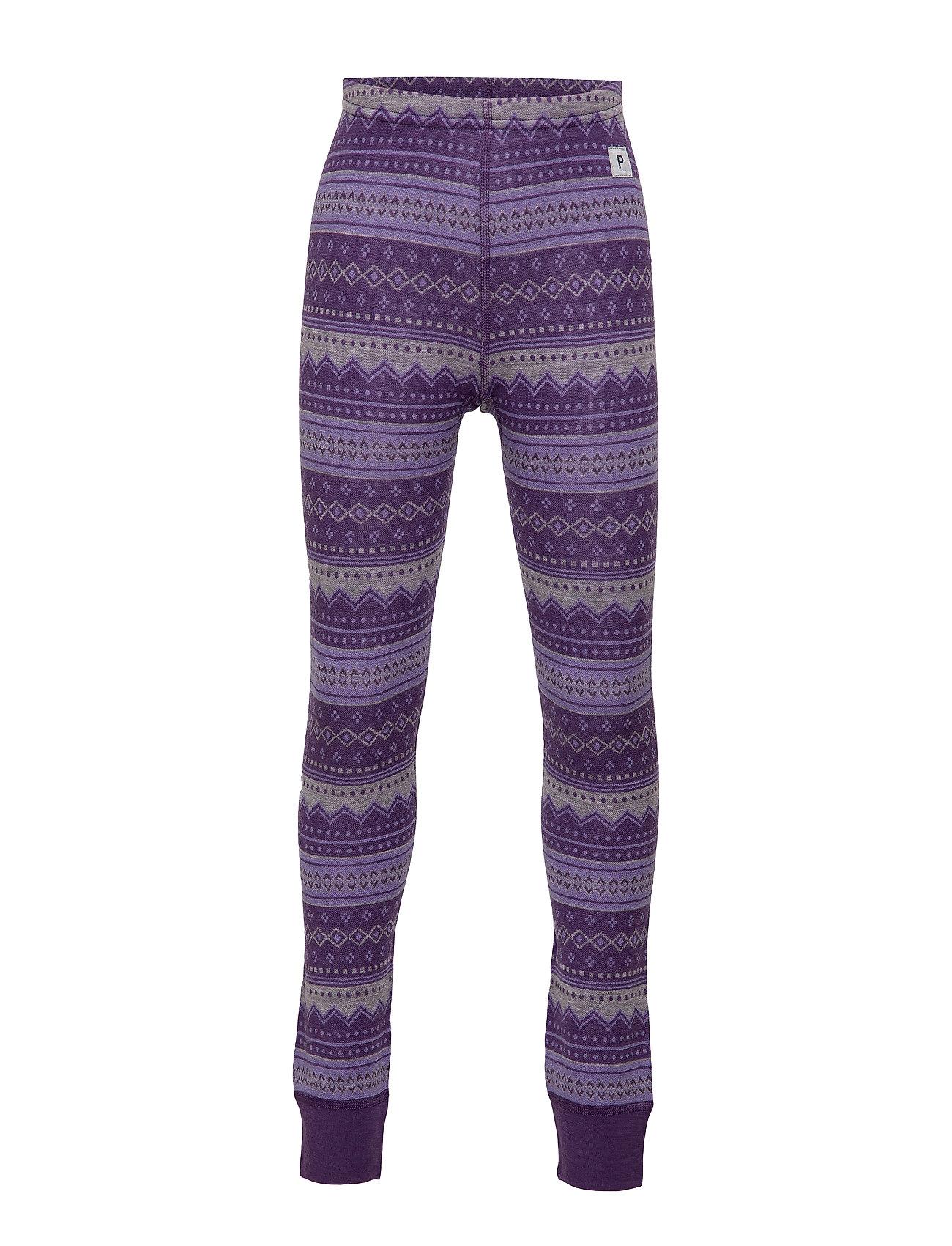 Polarn O. Pyret Trousers Wool Jaquard Preschool - ASTER PURPLE