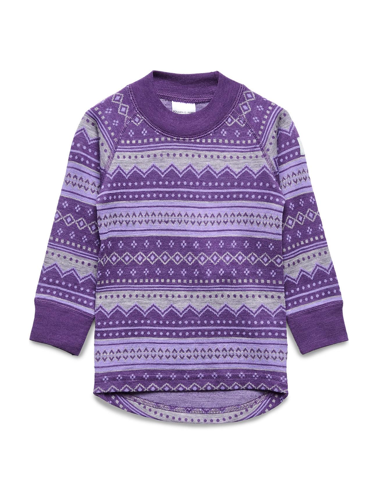 Polarn O. Pyret Top Wool Jaquard Pre school - ASTER PURPLE