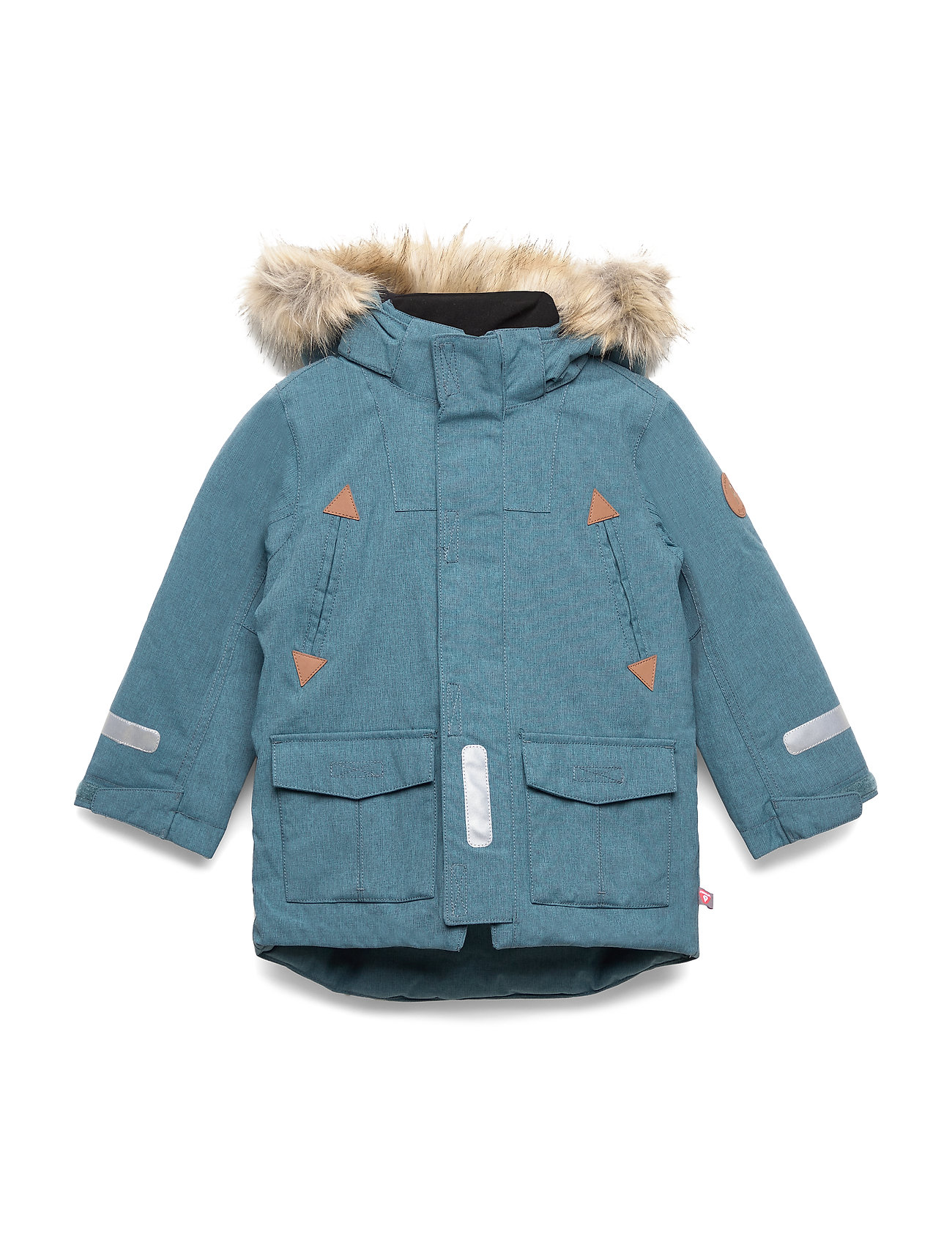 Polarn O. Pyret Jacket Padded w Hood Preschool - STORM BLUE