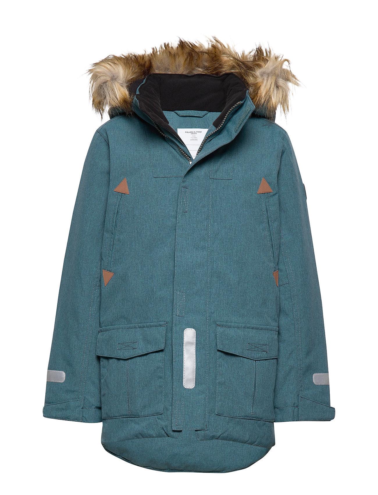 Polarn O. Pyret Jacket Padded w Hood School - STORM BLUE