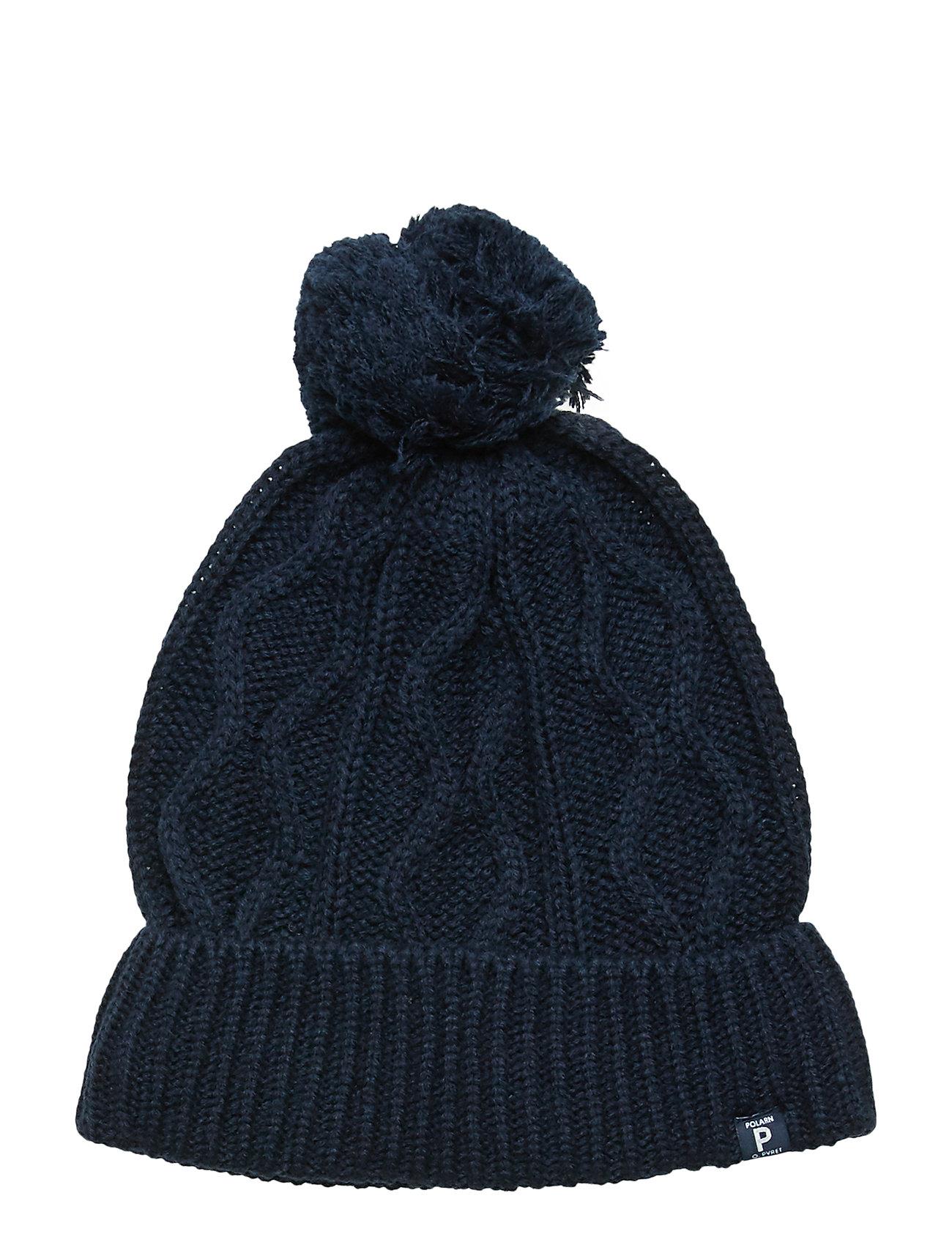 Polarn O. Pyret Cap Knitted Solid School - DARK SAPPHIRE