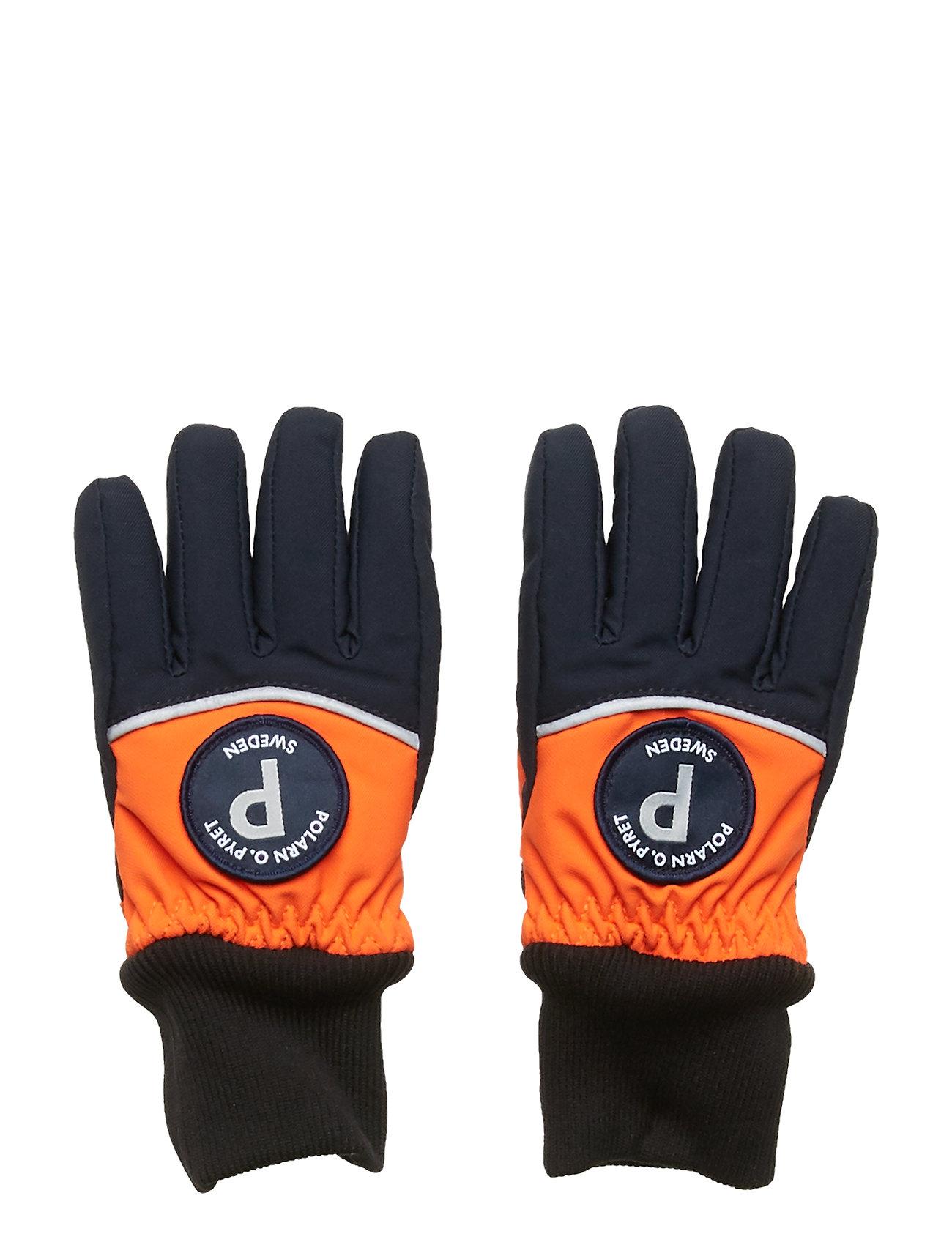 Polarn O. Pyret Glove 2 colour PreSchool - FLAME