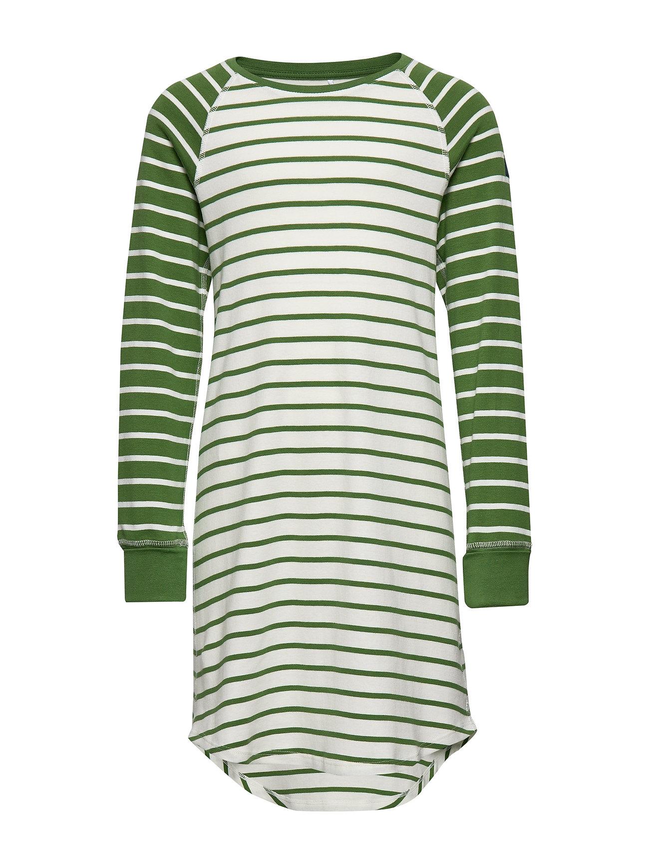 Polarn O. Pyret Nightdress l/s Striped School - WILLOW BOUGH