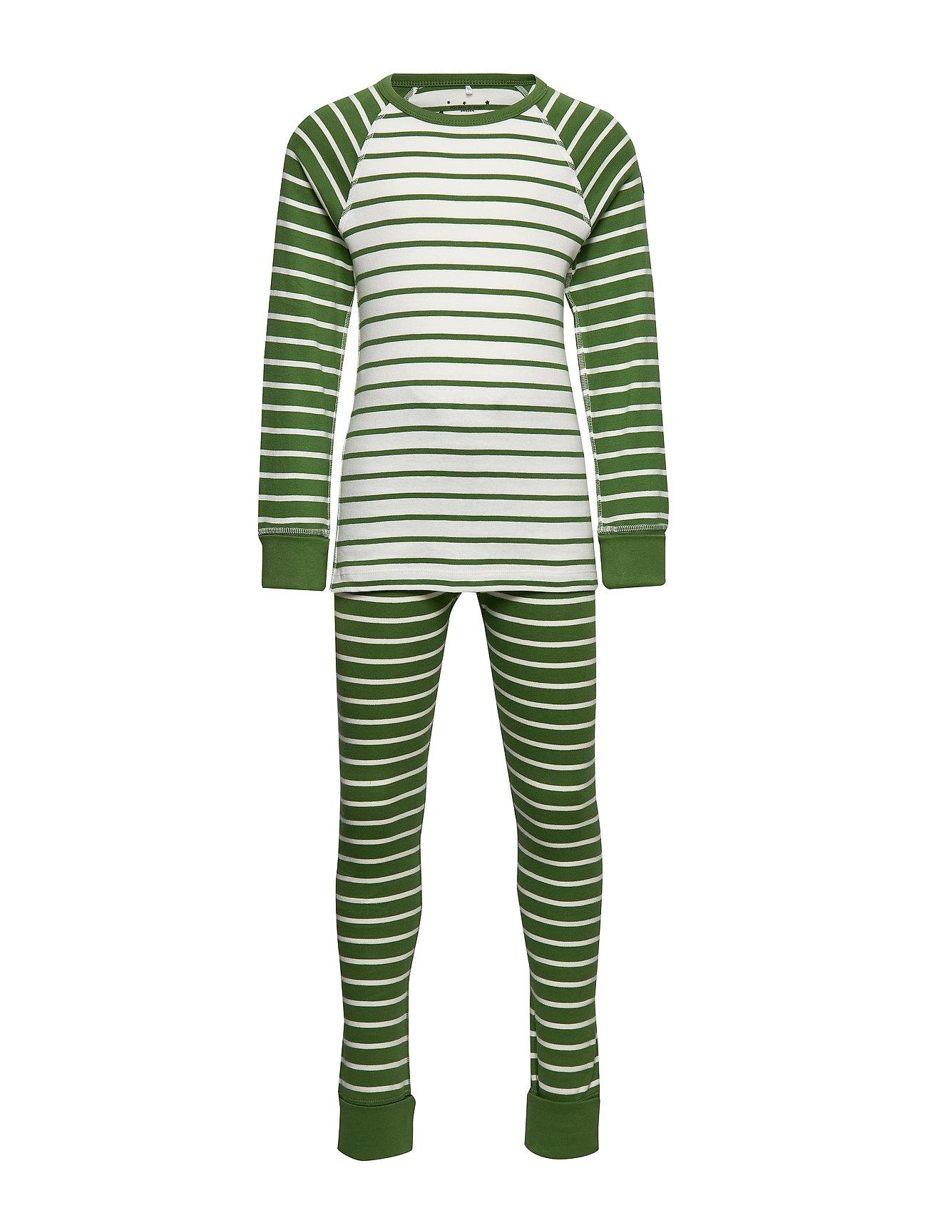 Polarn O. Pyret Pyjamas Striped School - WILLOW BOUGH