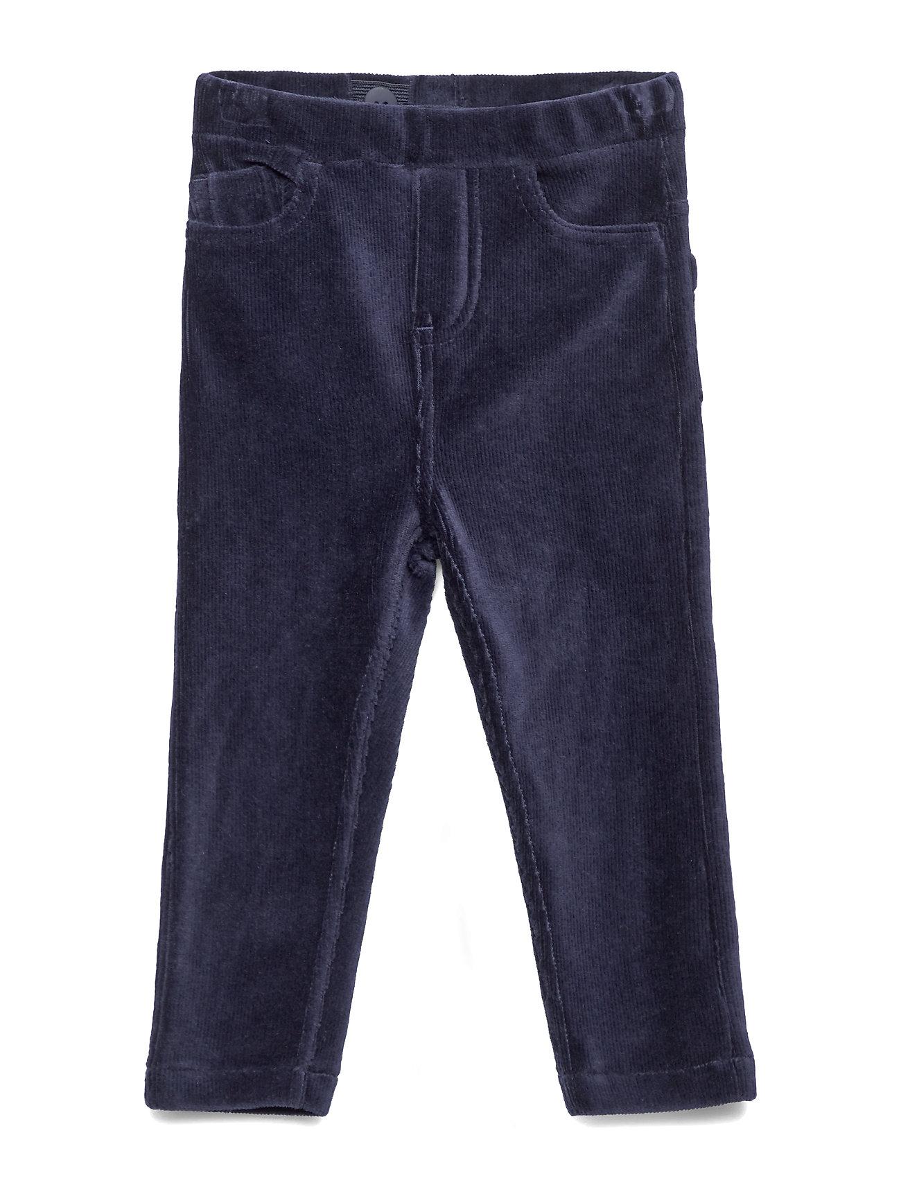 Polarn O. Pyret Jersey cord trousers Preschool - DARK SAPPHIRE