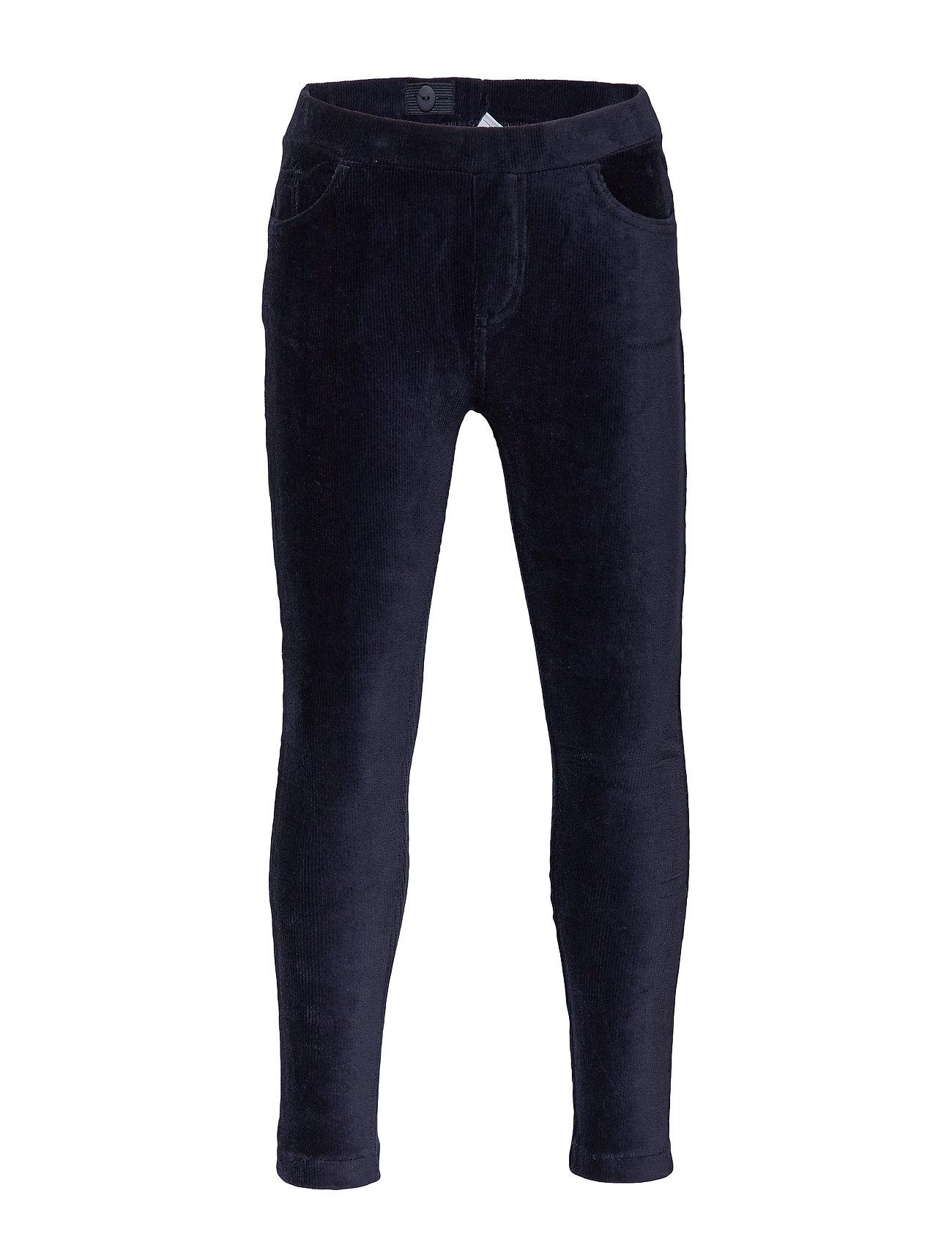 Polarn O. Pyret Jersey cord trousers School - DARK SAPPHIRE