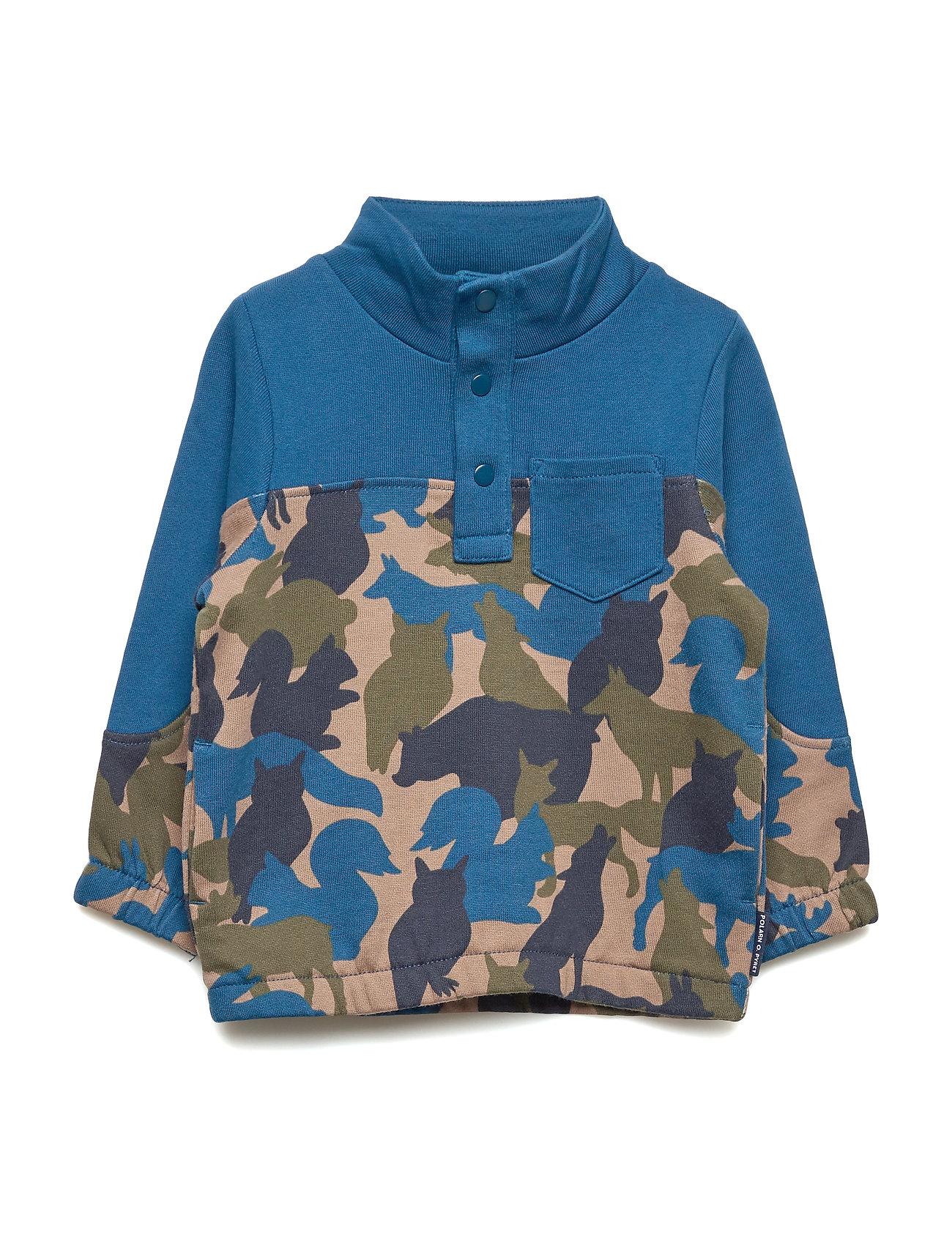 Polarn O. Pyret Sweater L/S Preschool - GIBRALTAR SEA
