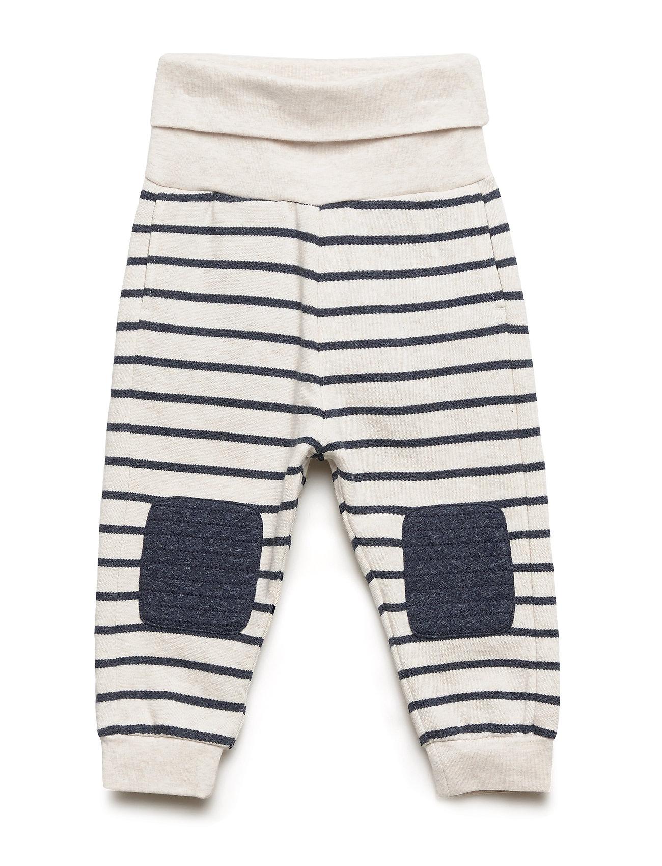Polarn O. Pyret Trouser Jersey Striped Baby - ECRU MELANGE